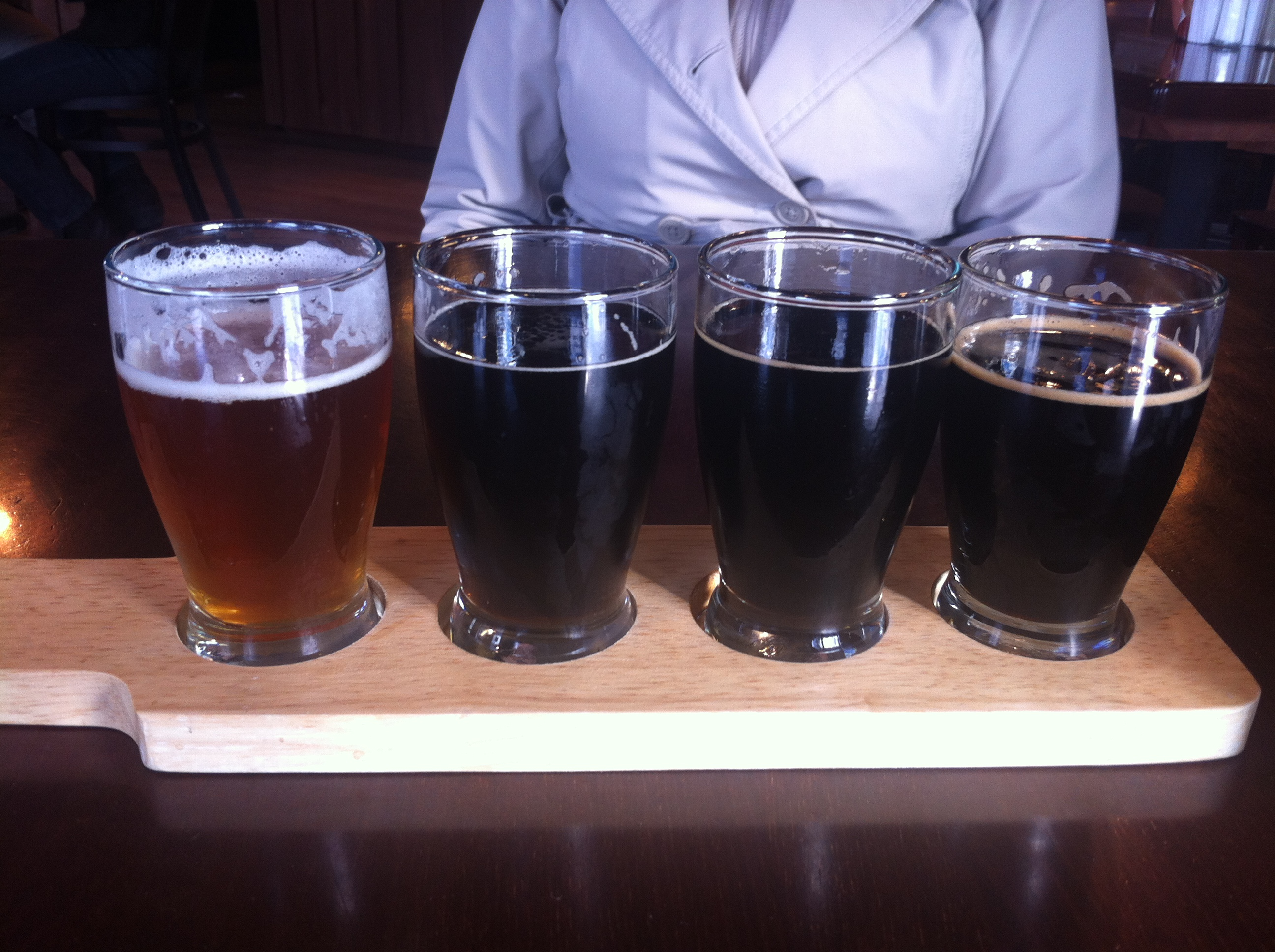 Taster Tray at 101 Brewery and Twana Roadhouse