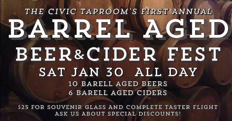 The Civic Taproom and Bottle Shop Barrel Aged Beer & Cider Fest