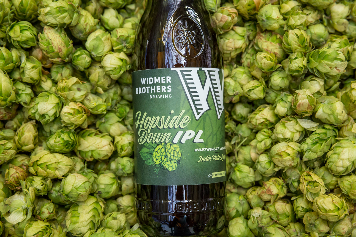Widmer Brothers Brewing Hopside Down IPL Bottle (photo courtesy of Widmer Brothers Brewing)