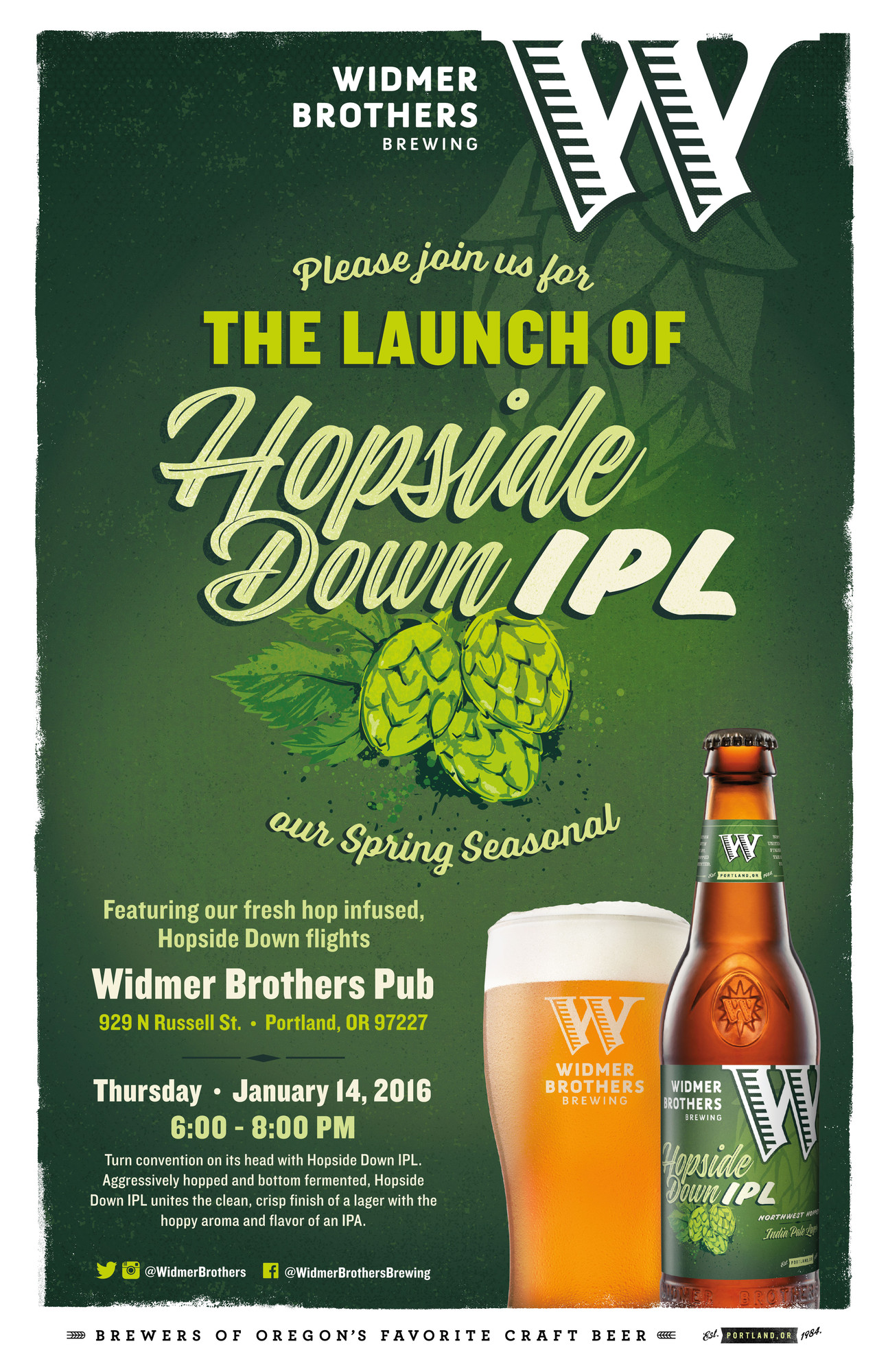 Widmer Brothers Brewing Hopside Down IPL Re-Launch Party