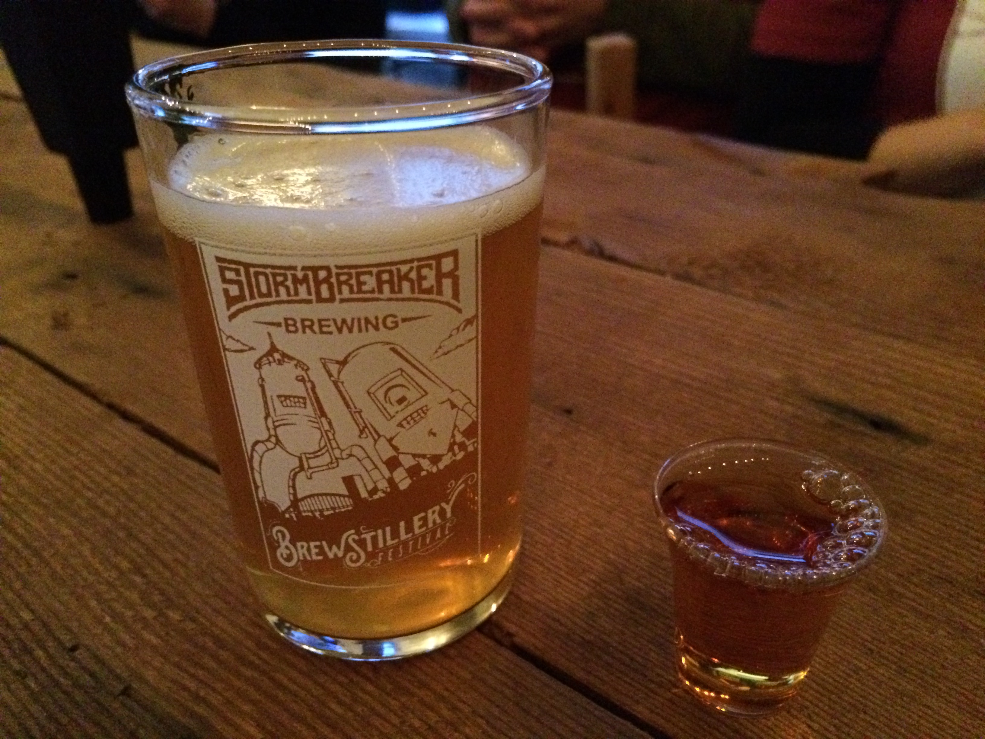 A pairing at the 2015 StormBreaker Brewing Brewstillery Festival.