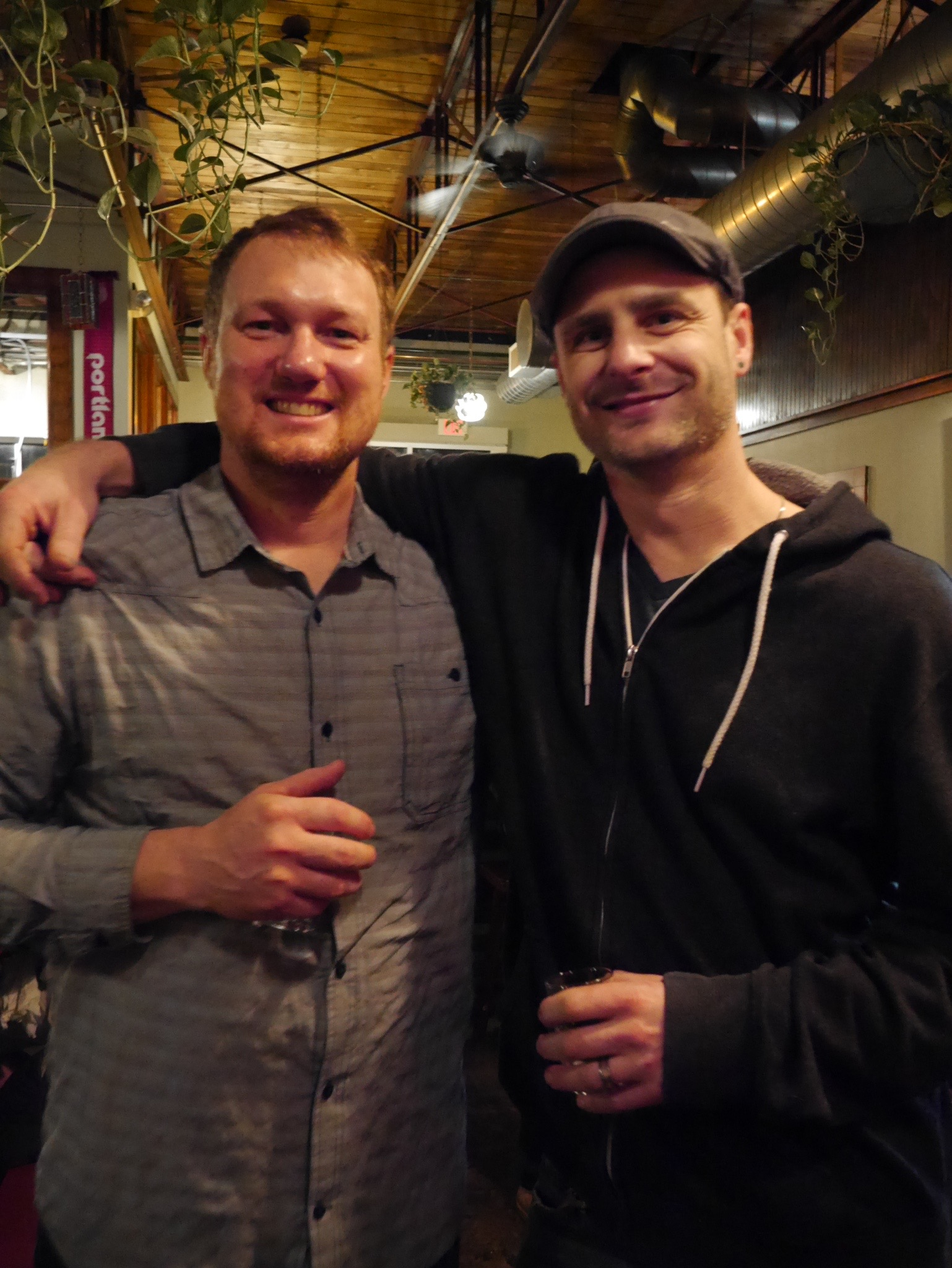 Andy Miller and James Dugan of Great Notion Brewing. (photo by Cat Stelzer)