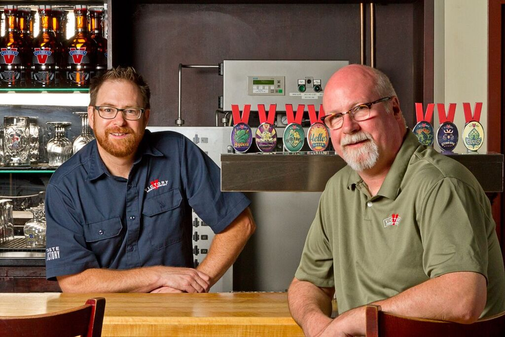 Bill Covaleski and Ron Barchet of Victory (image courtesy of Victory Brewing)