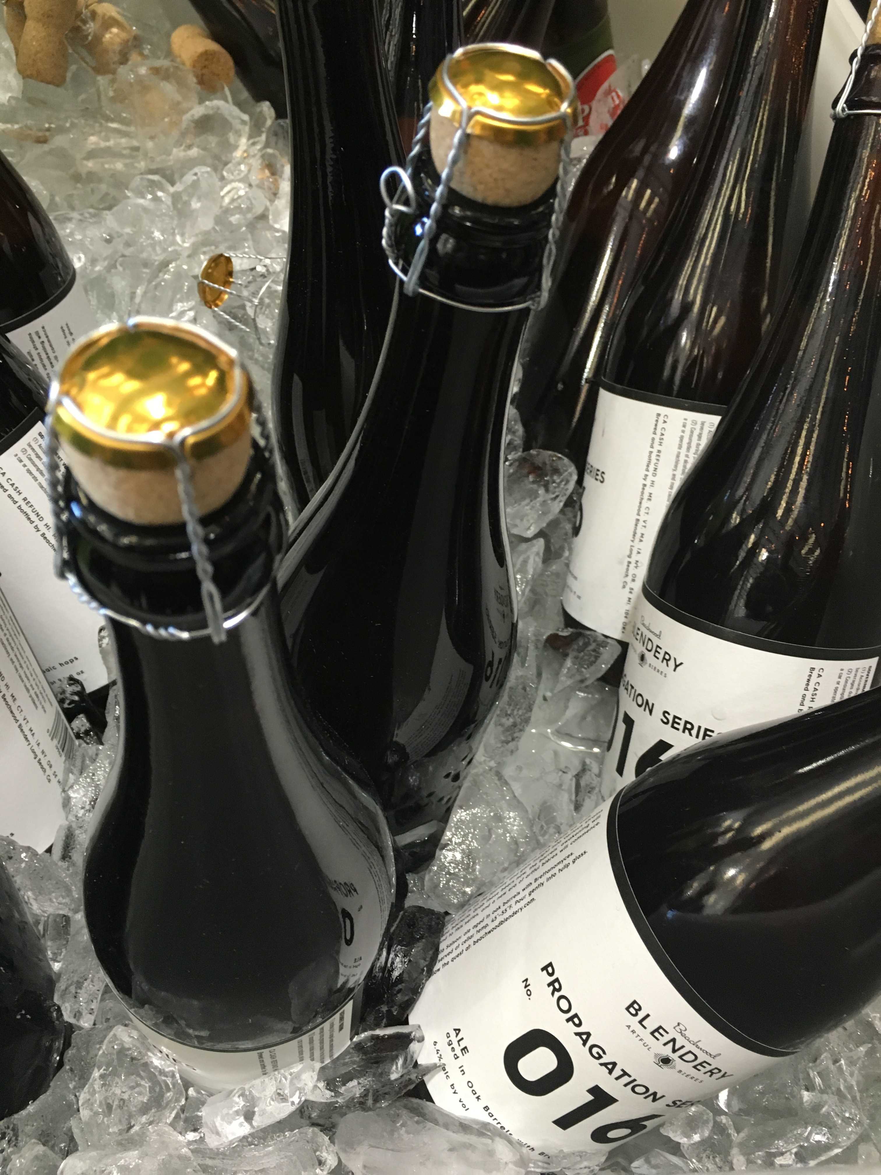 Bottles of Beachwood Blendery at 2016 RateBeer Best Festival.