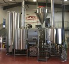 Brewhouse at Three Creeks Production Brewery.