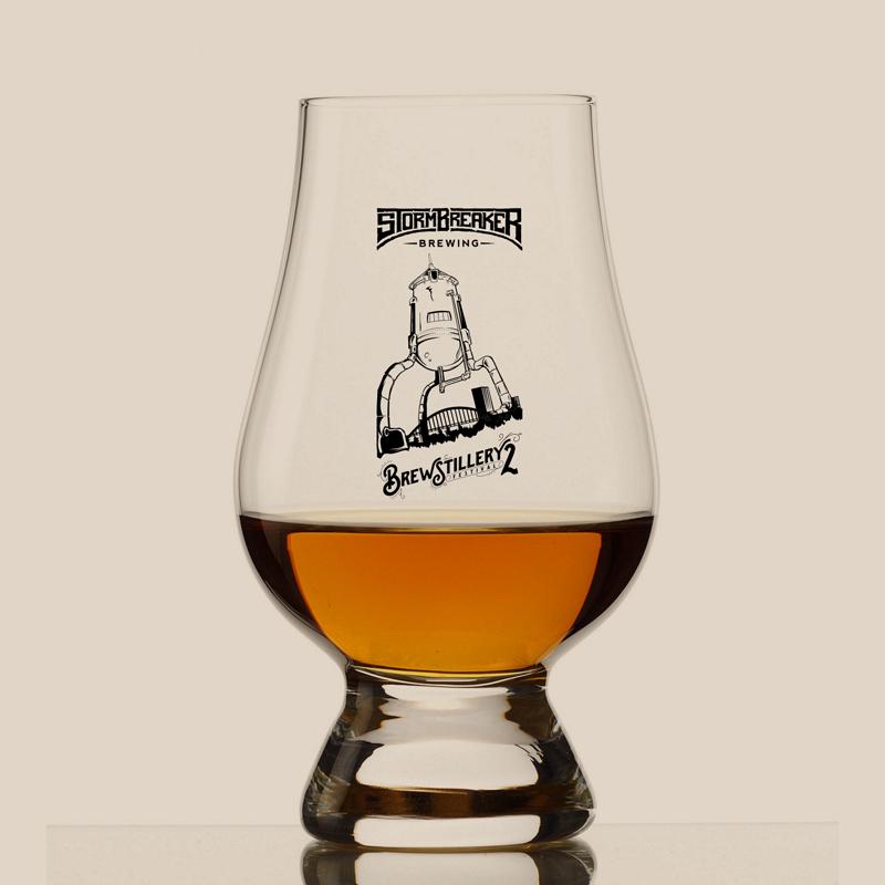 VIP Brewstillery Glencairn Glass.