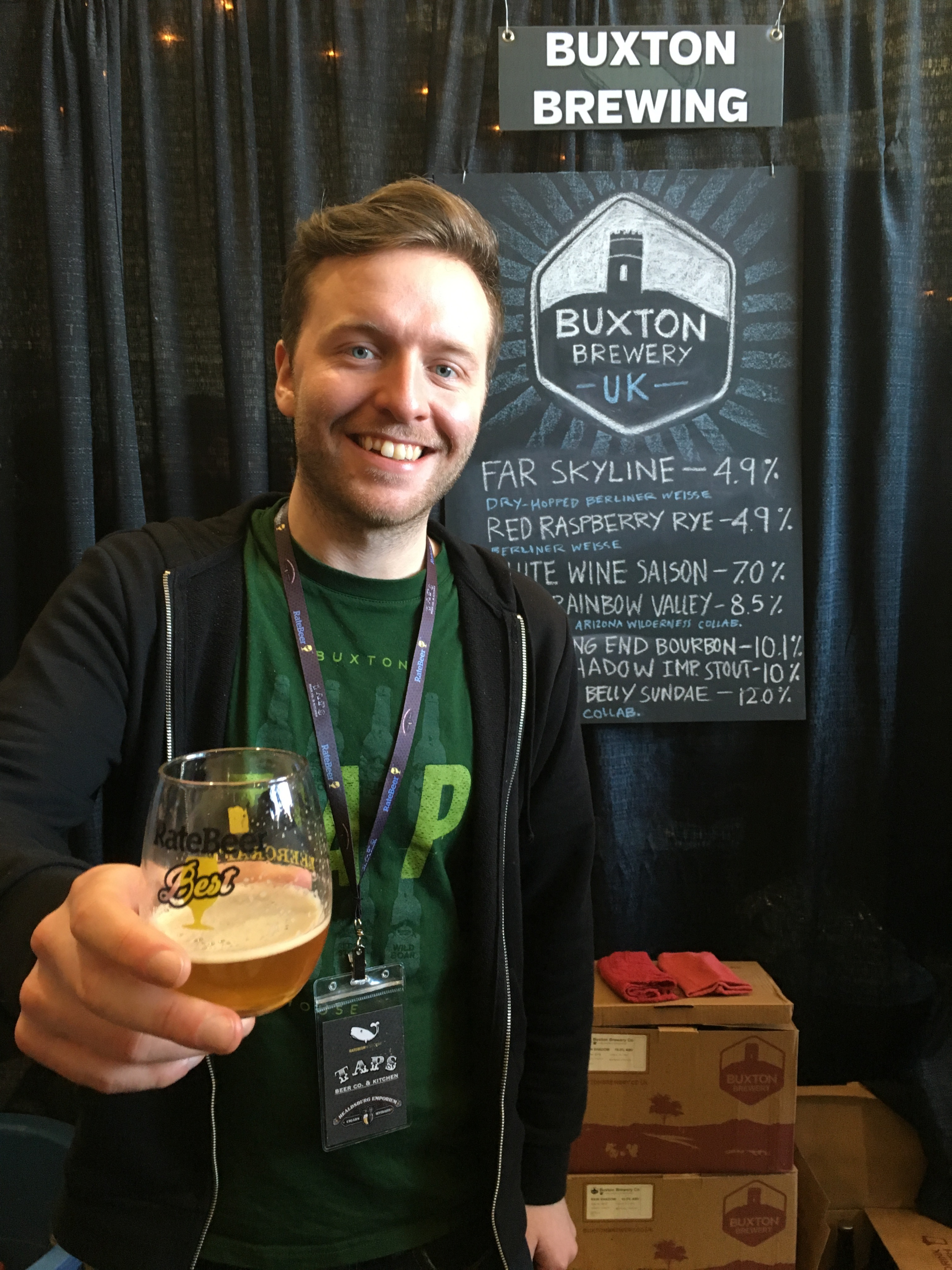 Buxton Brewing at 2016 RateBeer Best Festival.