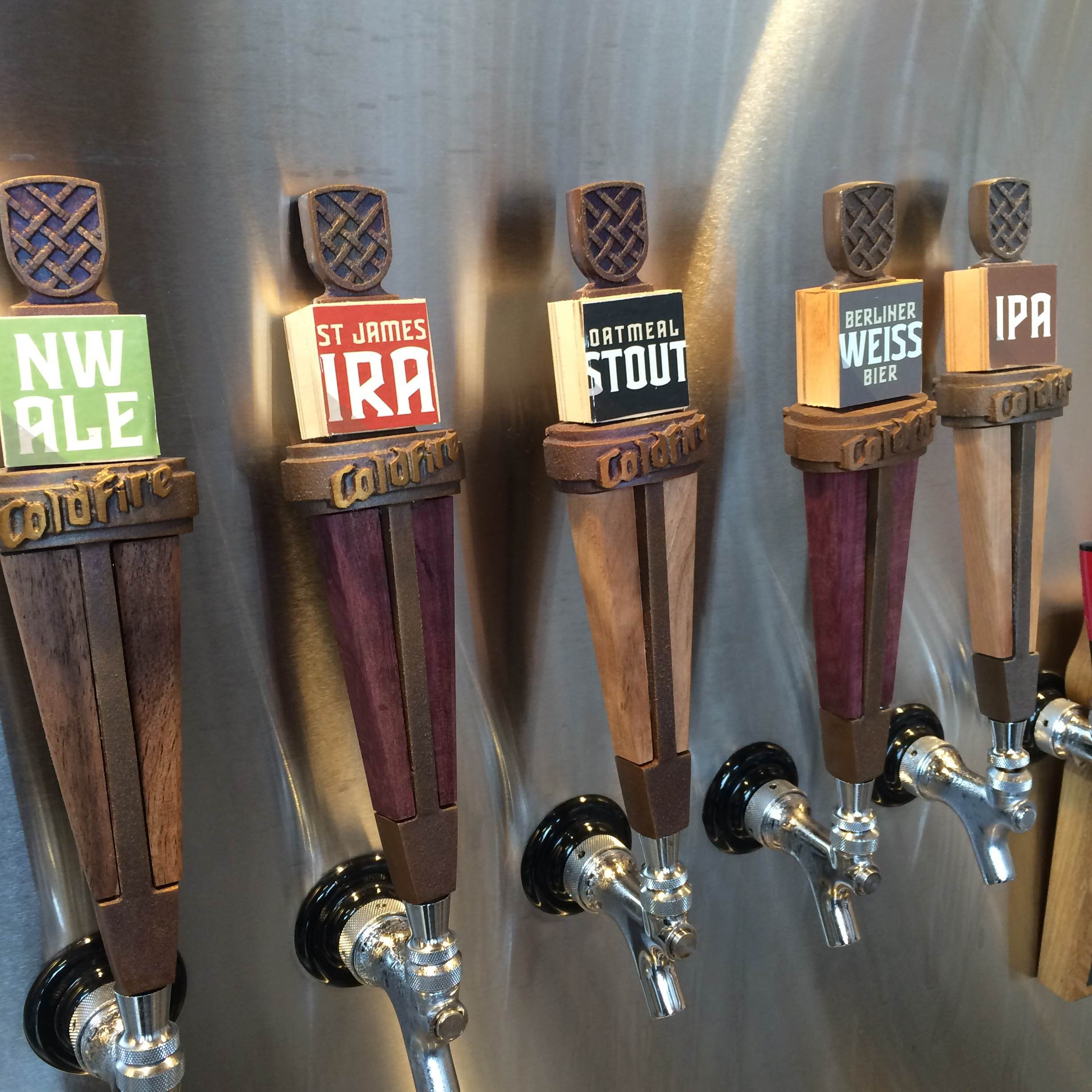 ColdFire Brewing Taps (photo by Matt Van Wyk)