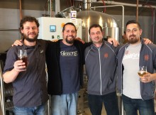 ColdFire Brewing and Alesong Brewing & Blending on brewday for KLCC Microbrew Fest beer. (photo by Matt Van Wyk)