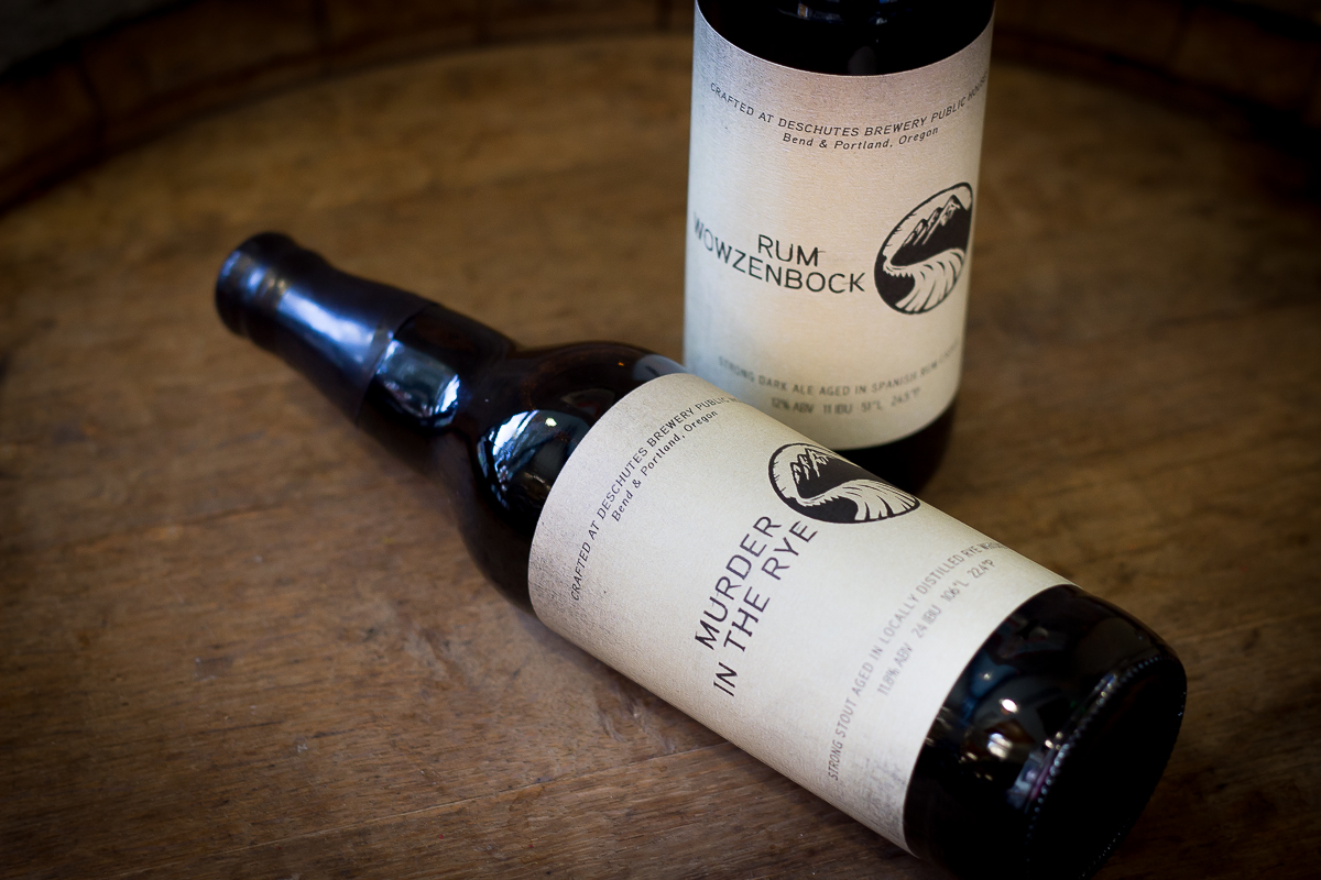 Deschutes Brewery Pub Reserve Series, Murder in the Rye and Rum Wowzenbock (image courtesy of Deschutes Brewery)