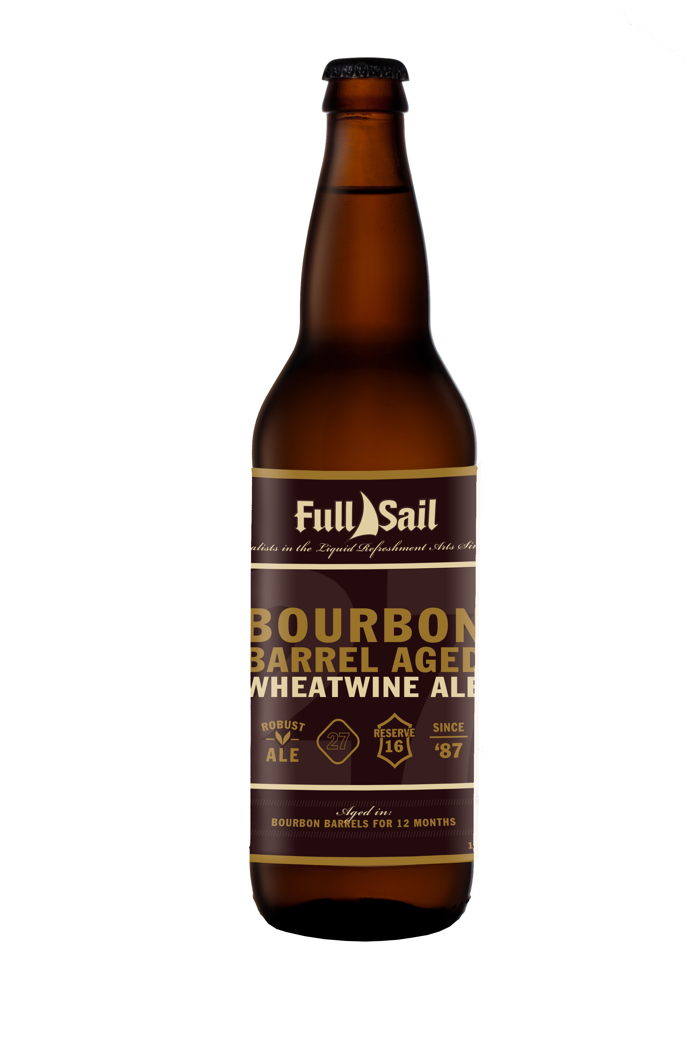 Full Sail Bourbon Barrel Aged Wheatwine Ale Bottle (image courtesy of Full Sail Brewing)