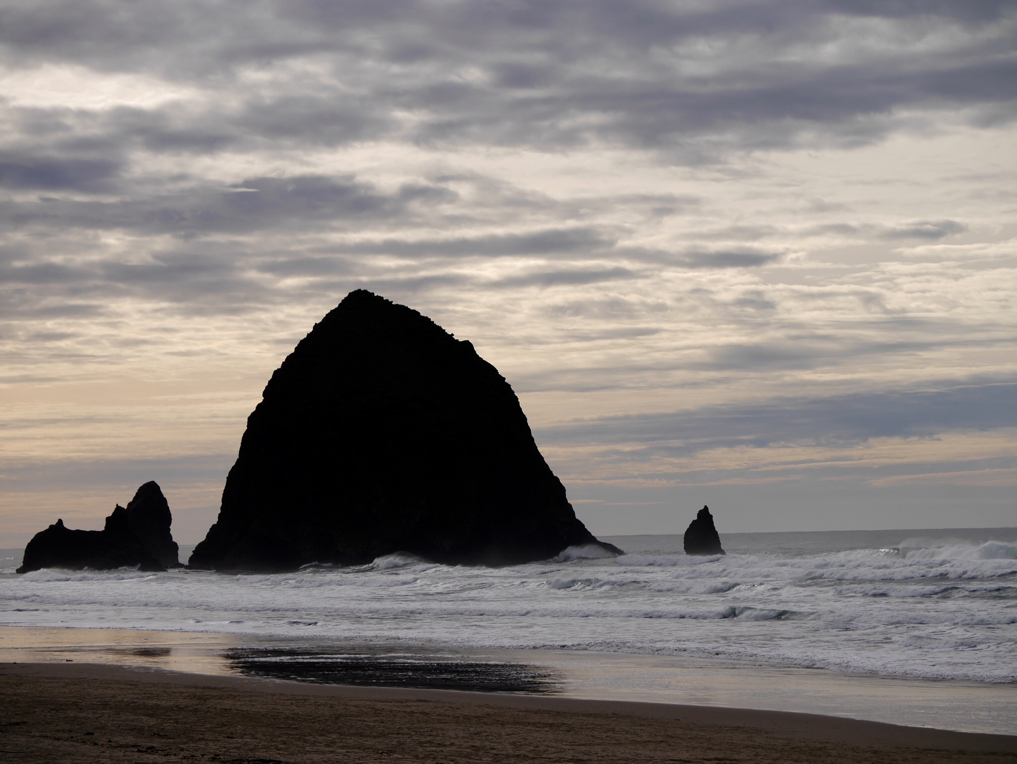 Haystack Rock in Cannon Beach, OR (photo by Cat Stelzer)