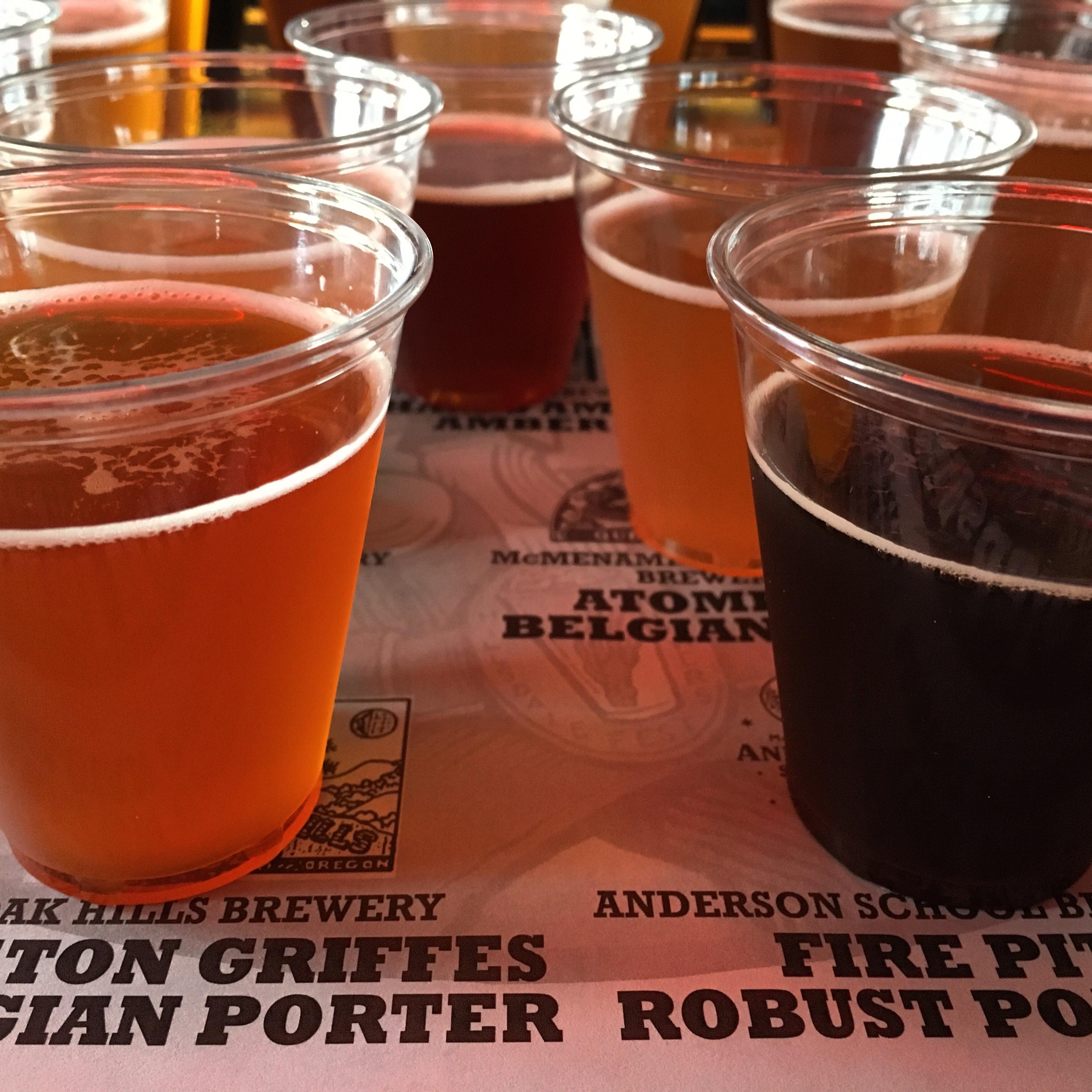 Hillsdale Brewfest Taster Tray of beers