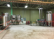Inside the brewery at Freebridge Brewing.