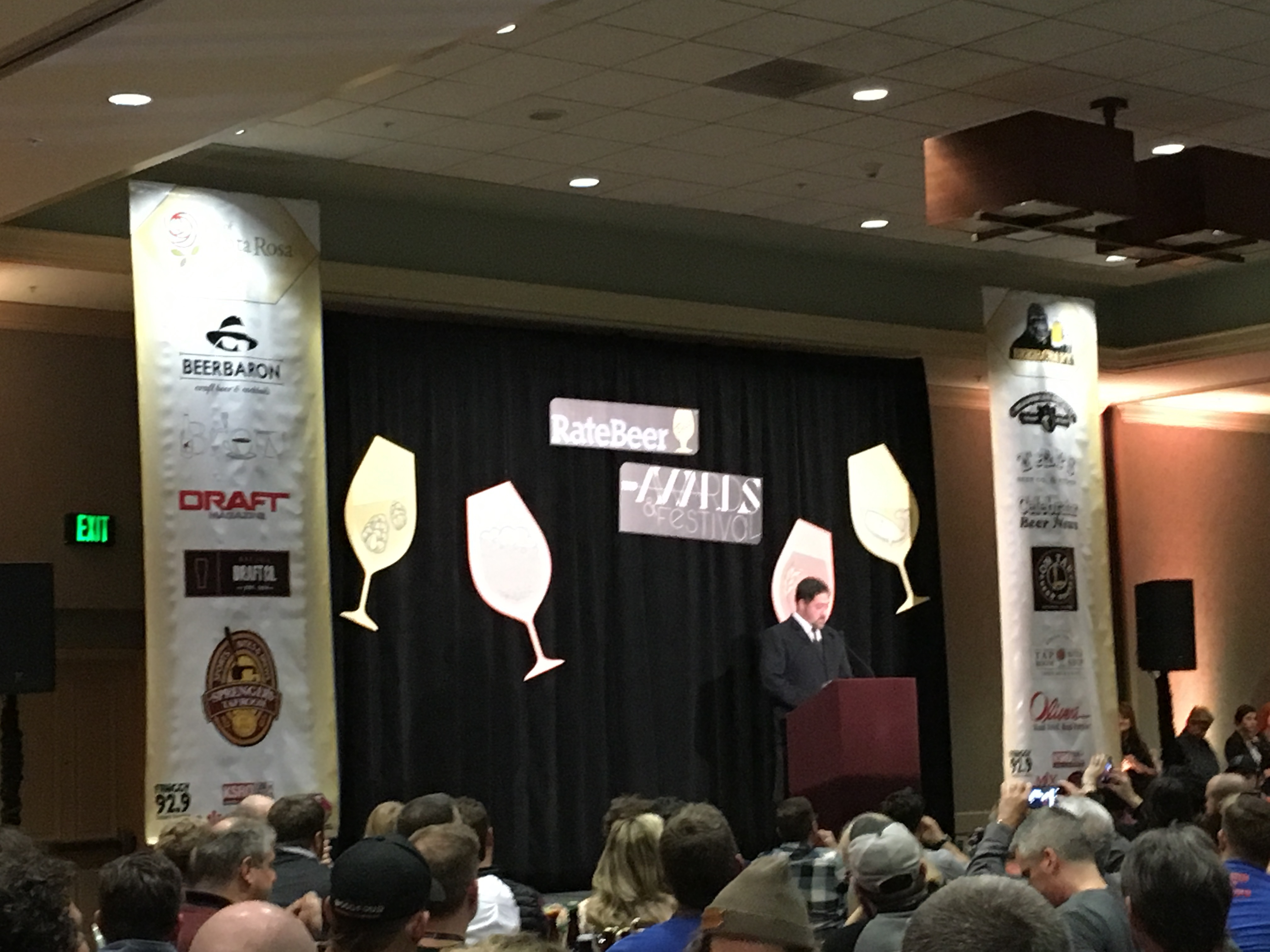 Joe Tucker of RateBeer at 2016 RateBeer Best Awards.