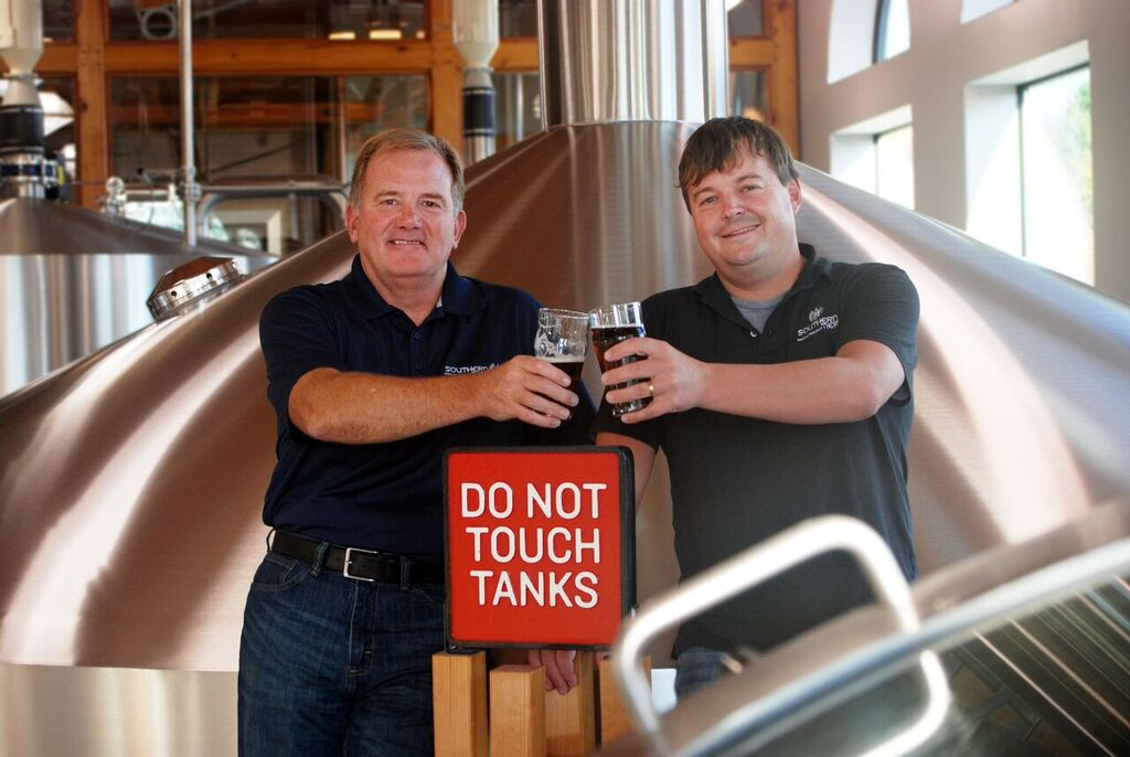 John Coleman of ABV & Phin DeMink of Southern Tier (image courtesy of Victory Brewing)