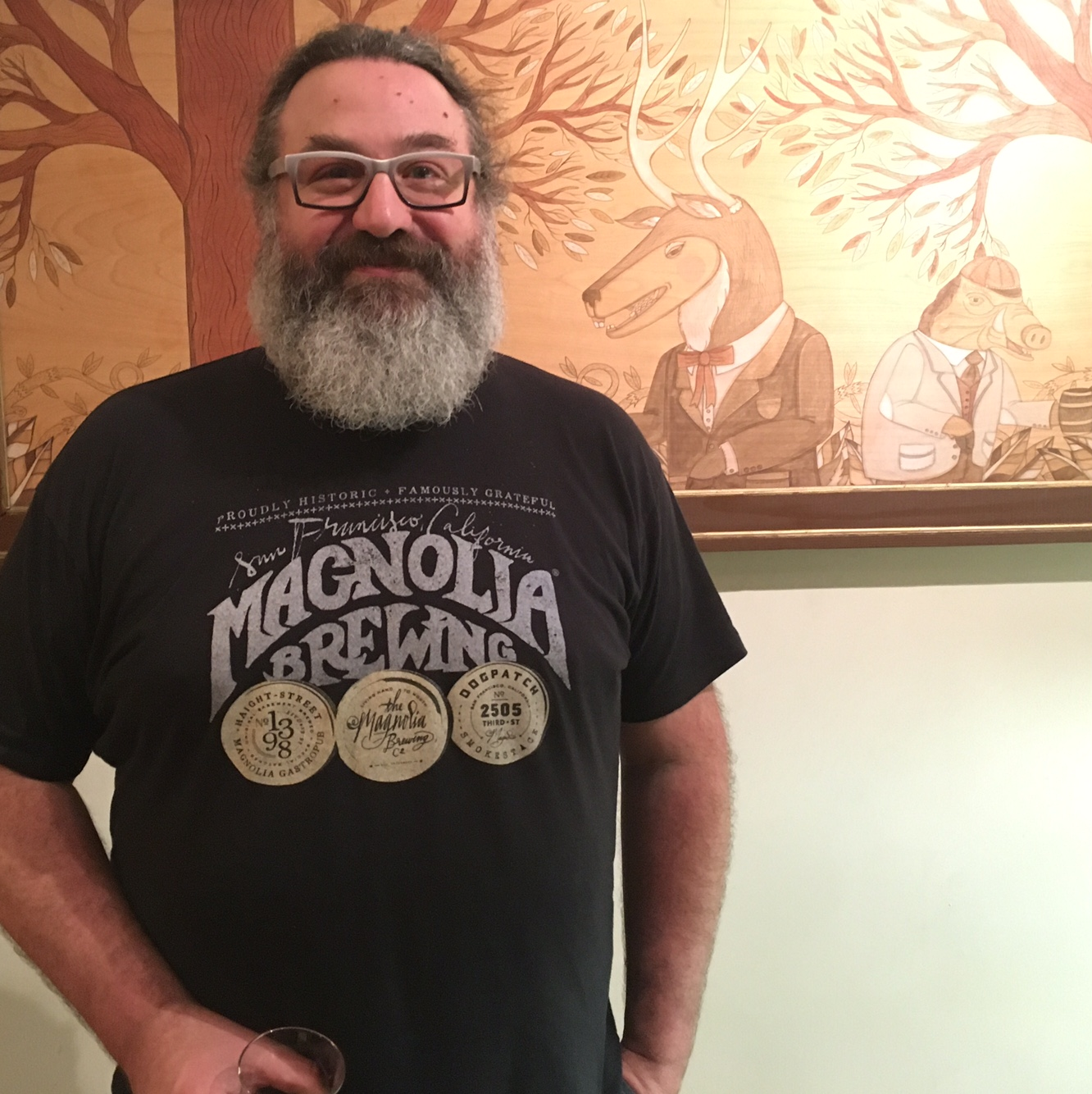 Magnolia Brewing Founder Dave McLean at Cheese Bar in February 2016. (photo by D.J. Paul)