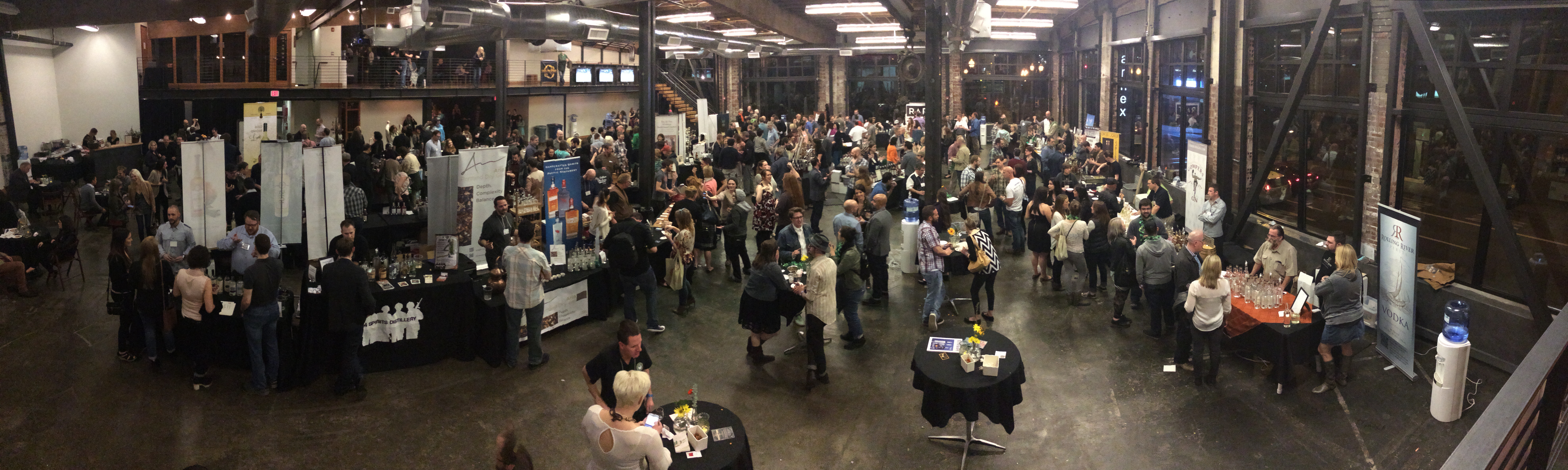 Panoramic shot at 5th Annual TOAST at Left Bank Annex