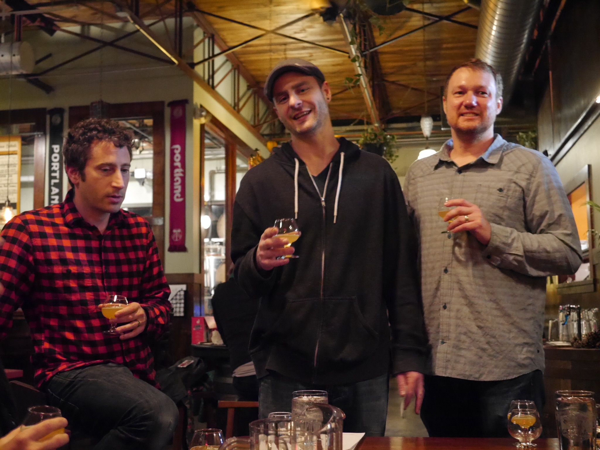 Paul Reiter, James Dugan and Andy Miller of Great Notion Brewing. (photo by Cat Stelzer)