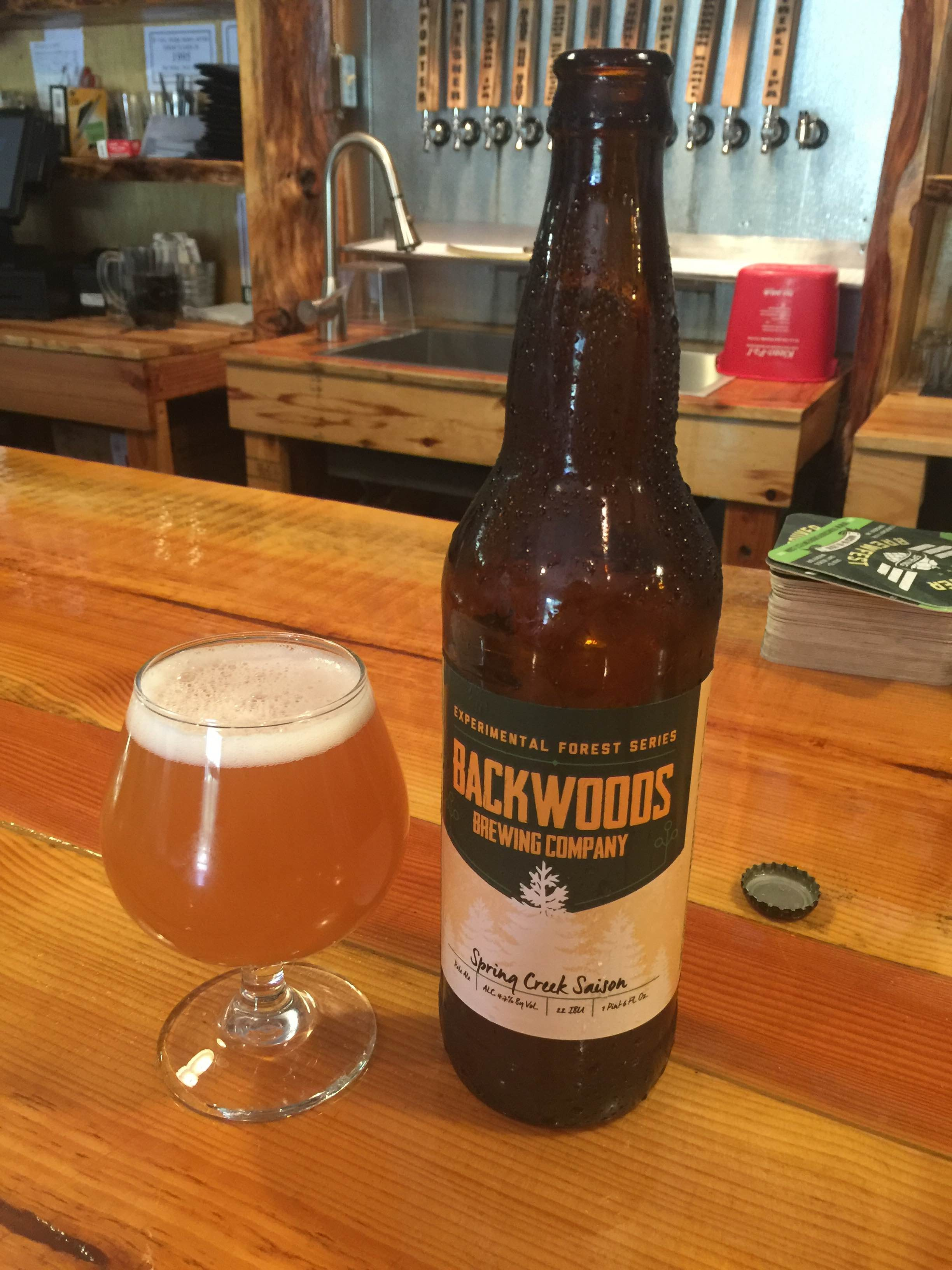 Spring Creek Saison  (image courtesy of Backwoods Brewing)