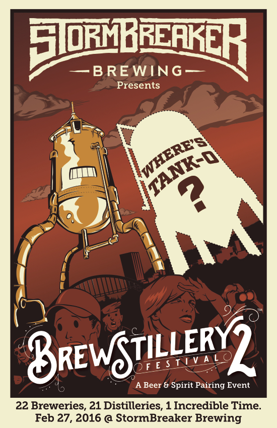 StormBreaker Brewing 2nd Annual Brewstillery Festival Poster