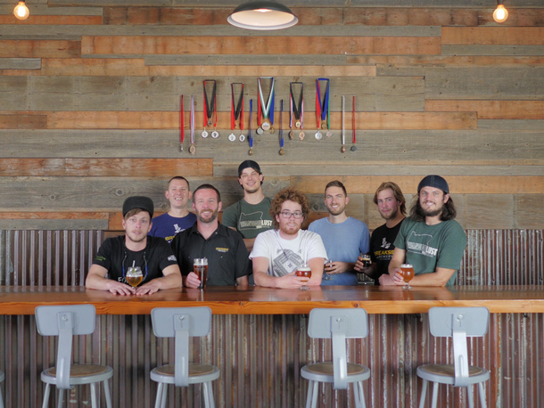 The brew crew at Breakside's production brewery in Milwaukie, where the winning IPA is brewed (image courtesy of Breakside Brewing)