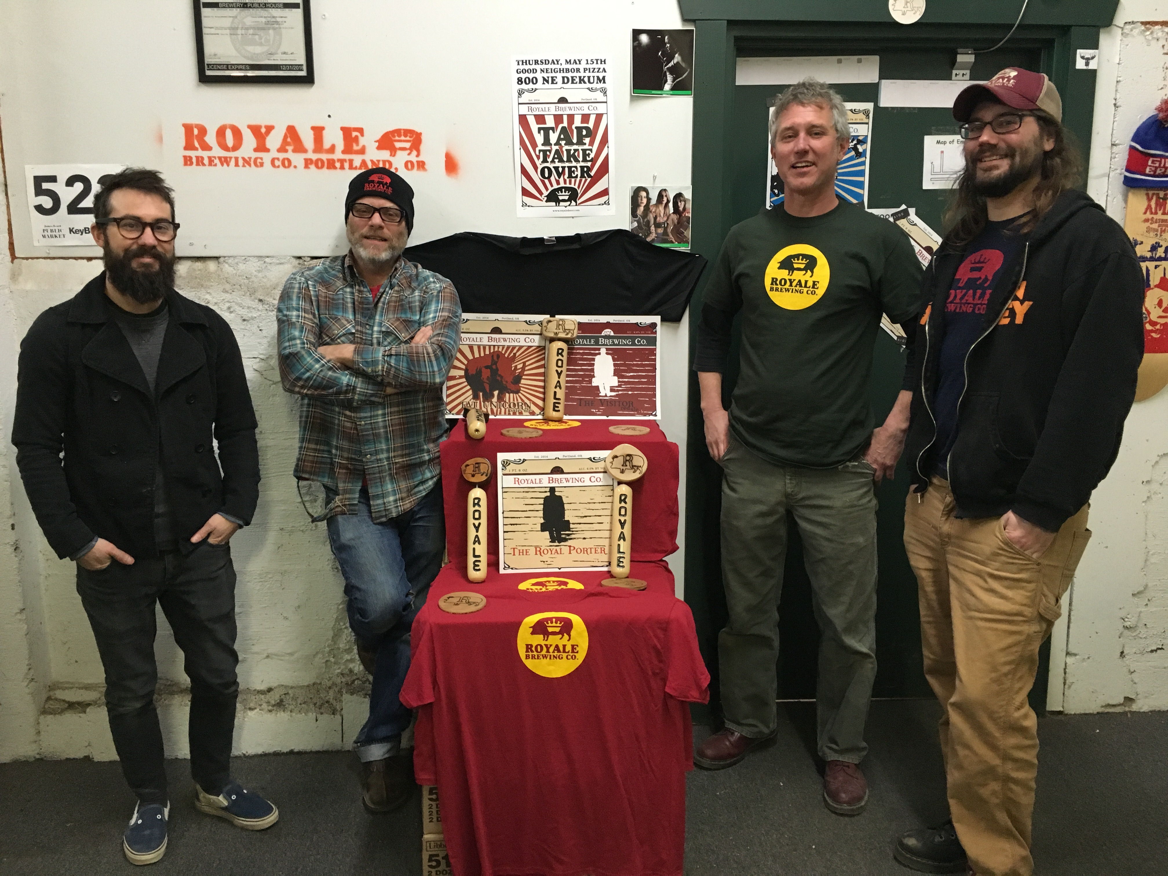 The crew at Royale Brewing: Paul Rey, Jack Houston, Mike Weksler and Paul Bastian.