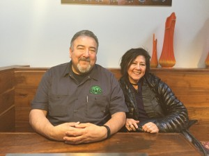 Dave Nuñez of Brewery & Taproom and Arlene Nuñez of By The Bottle