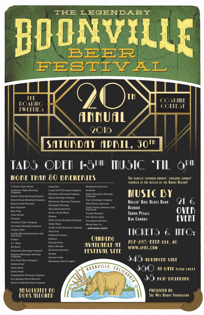 2016 Boonville Beer Festival Poster