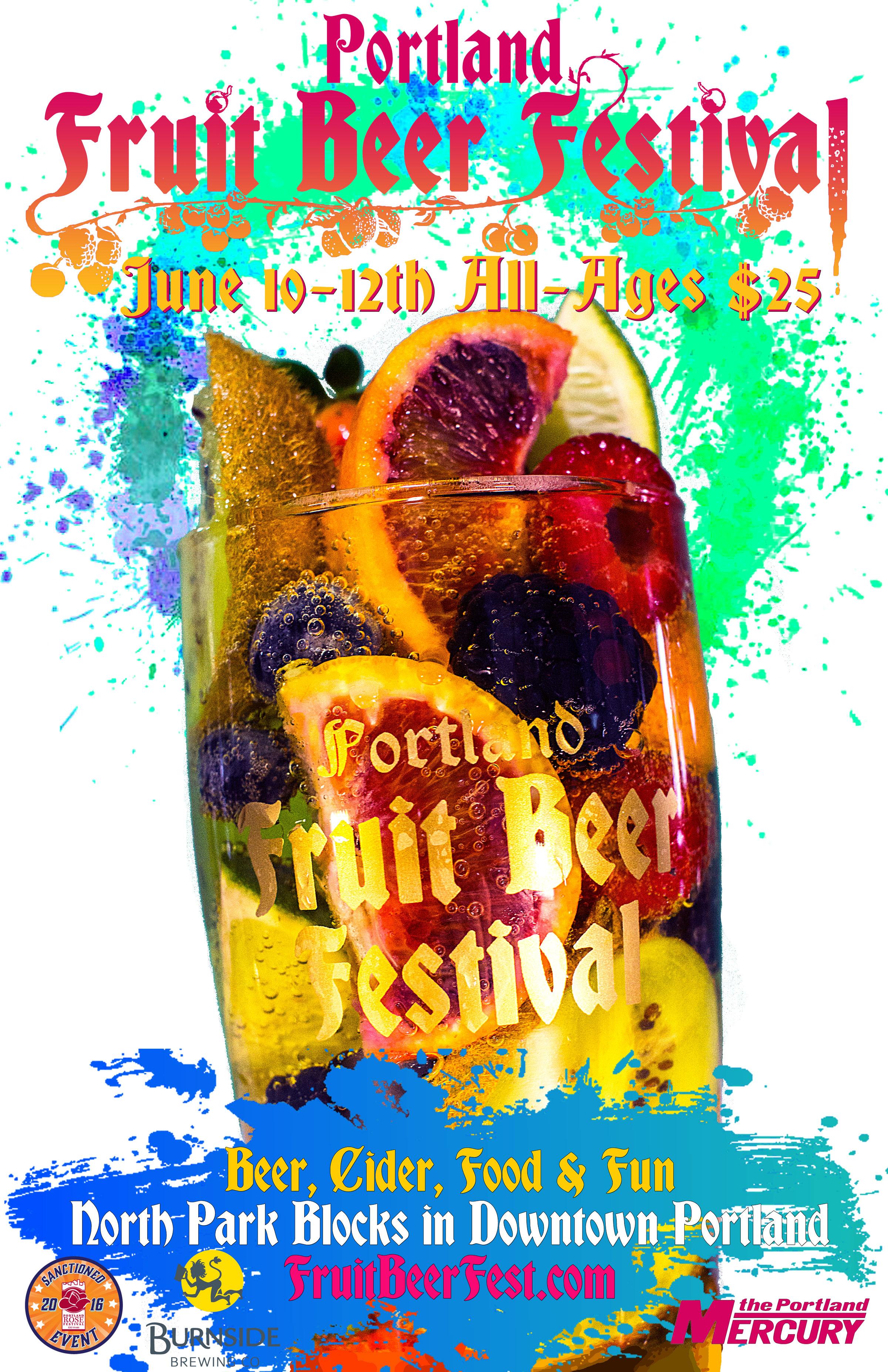 2016 Portland Fruit Beer Festival Poster