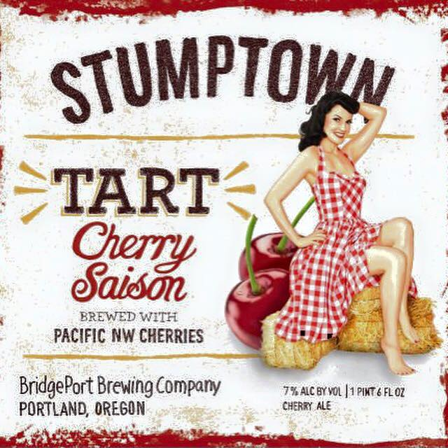 BridgePort Brewing STUMPTOWN Tart Cherry Saison Label