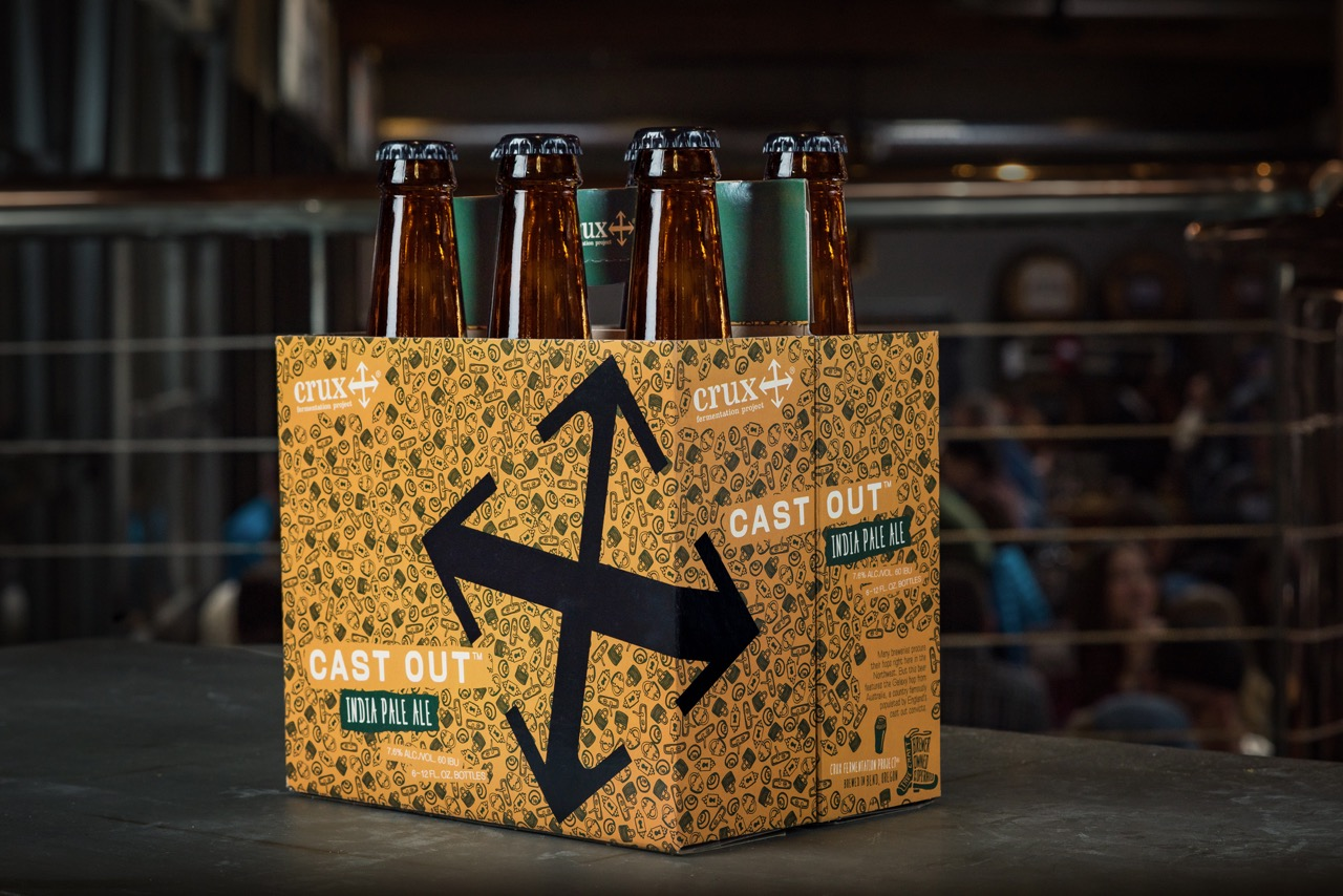 Crux Cast Out IPA 6 Pack Bottles (image courtesy of Crux Fermentation Project)