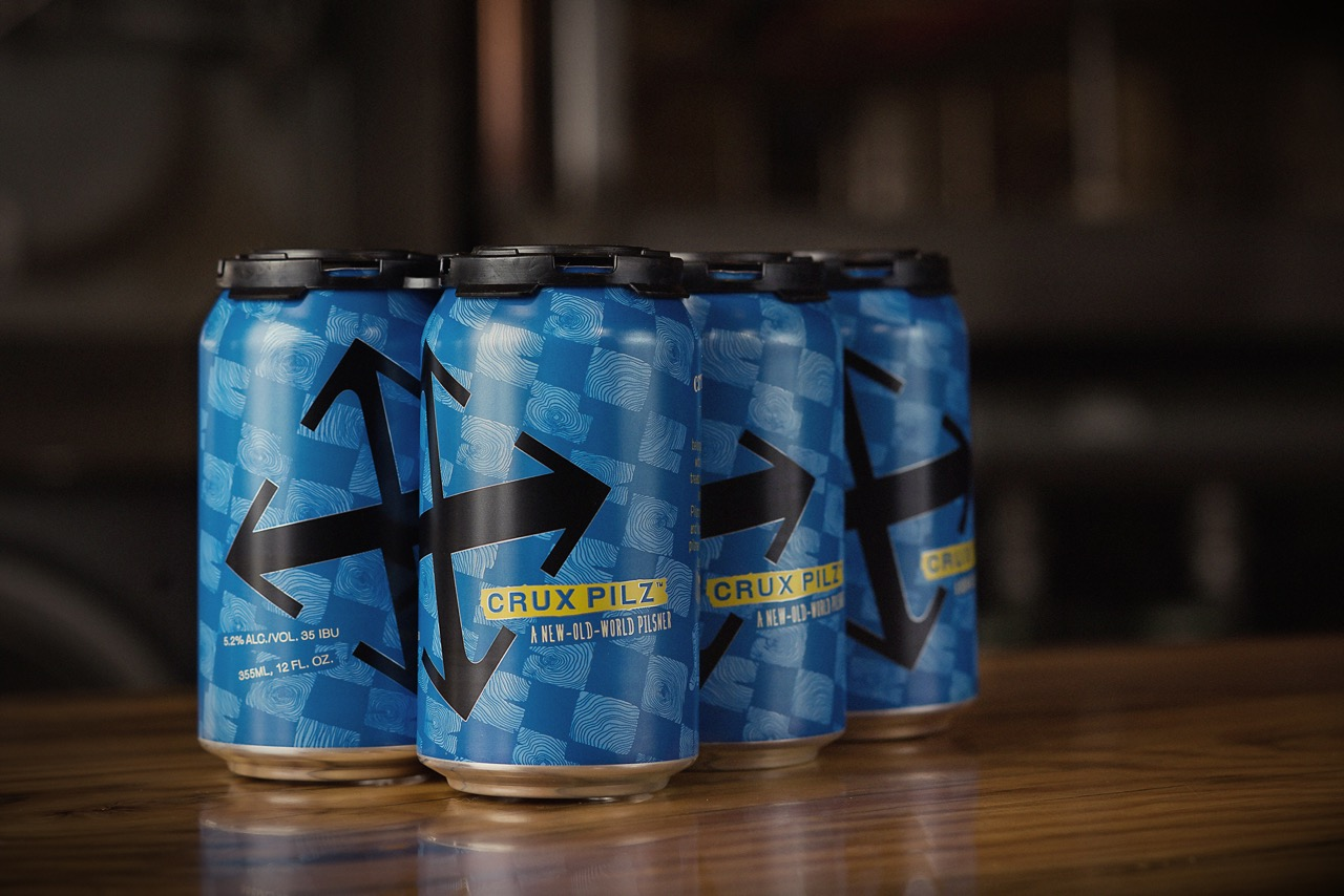 Crux Pilz 6 Pack Cans (image courtesy of Crux Fermentation Project)