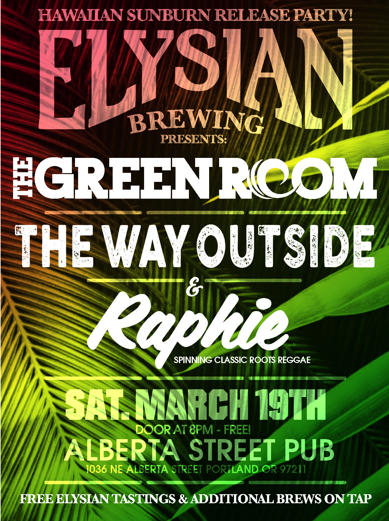 Elysian Brewing Hawaiian Sunburn Release Party