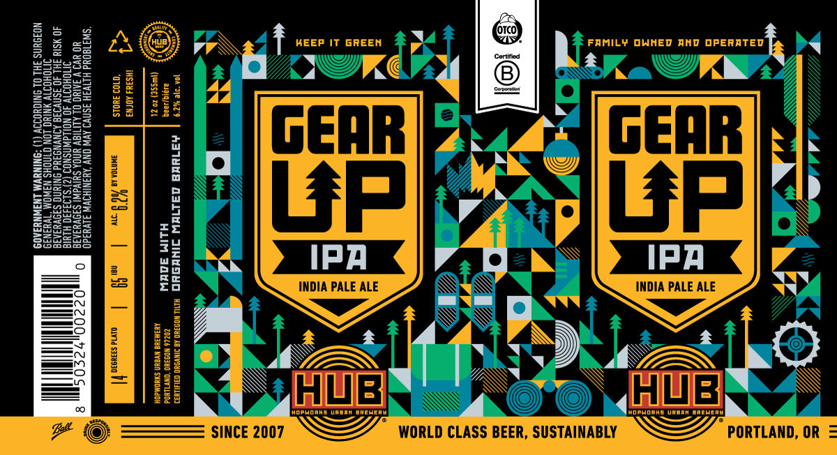 Hopworks Gear Up IPA Label