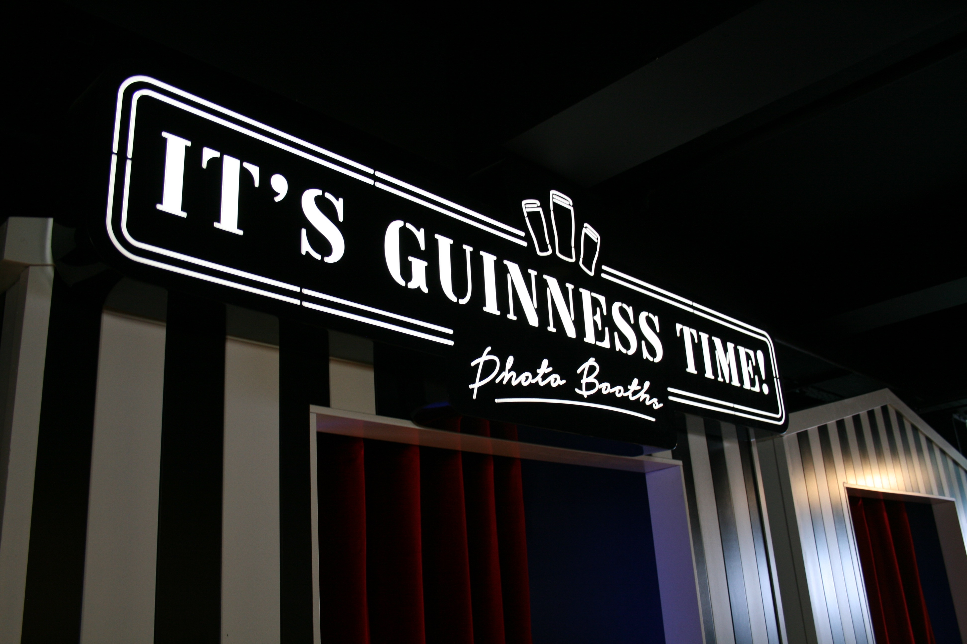 It's Guinness Time Photo Booth inside the Guinness Storehouse!