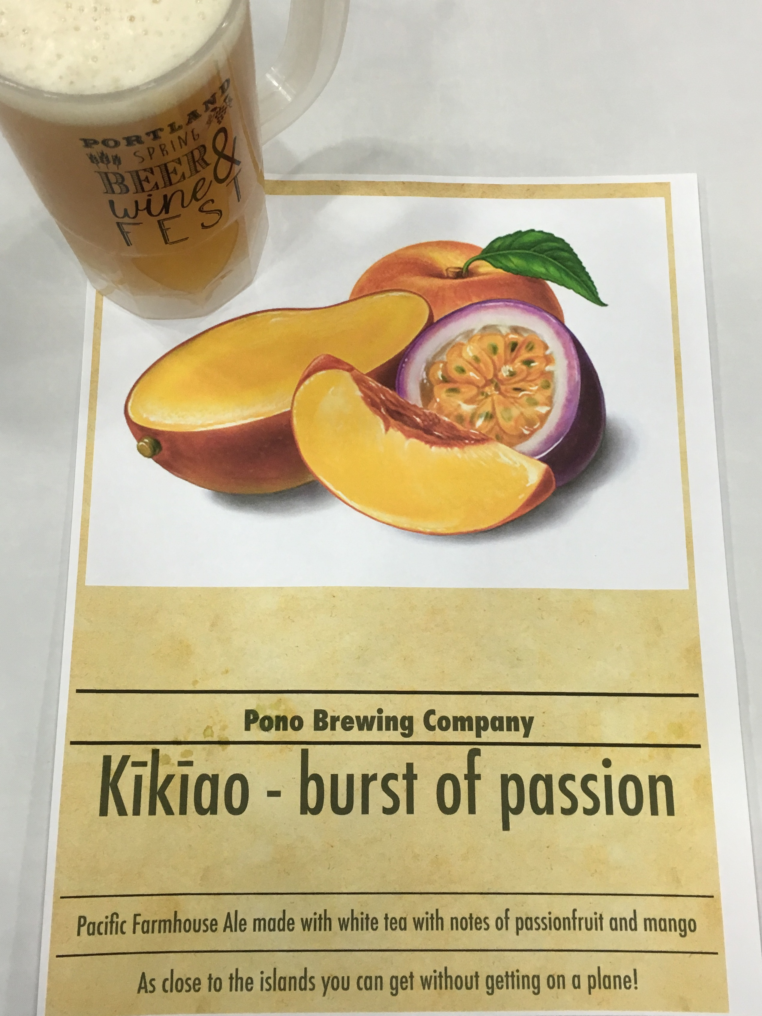 Kikiao Burst of Passion from Pono Brewing at the 2016 Spring Beer and Wine Fest.