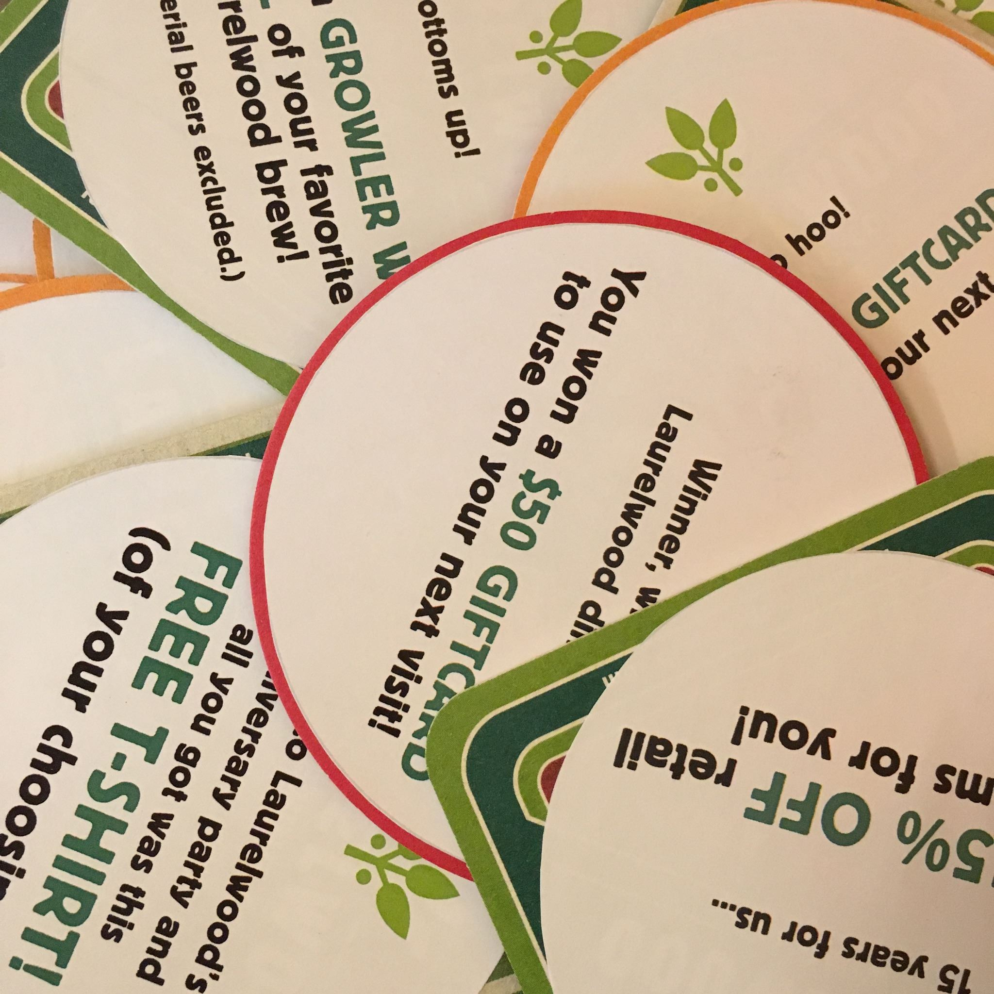 Laurelwood 15th Anniversary Promos (image courtesy of Laurelwood Brewing)