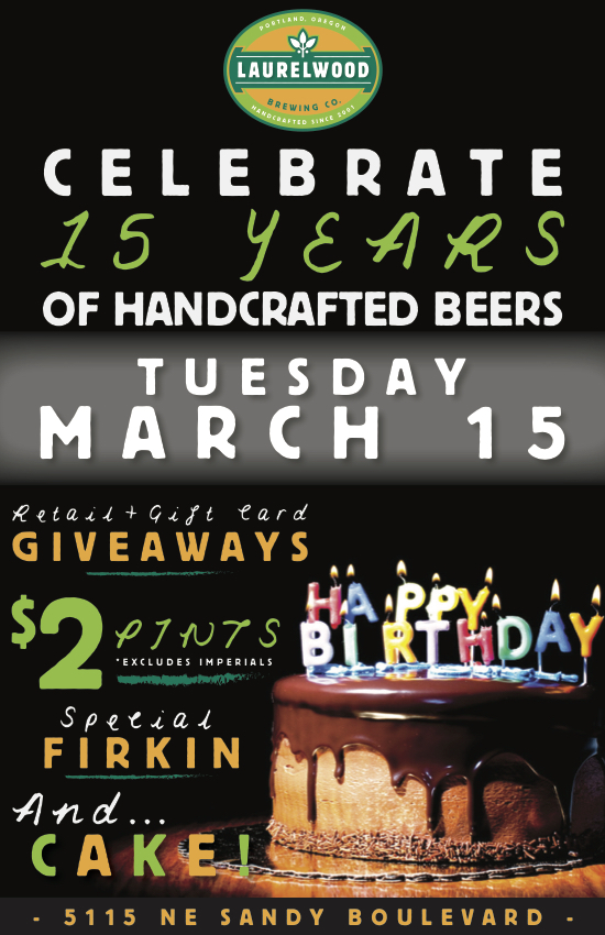 Laurelwood Brewing 15th Anniversary