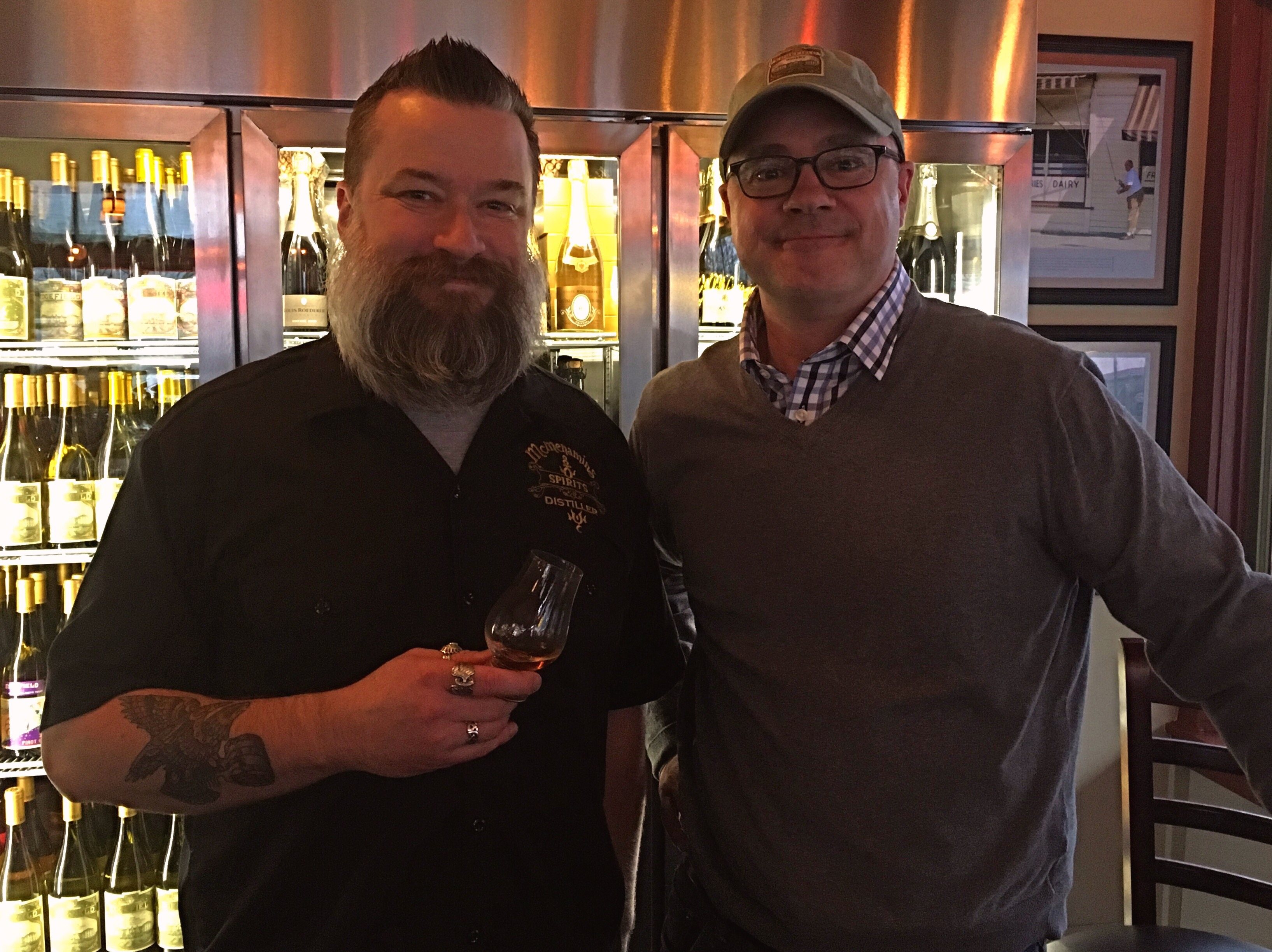 McMenamins Distillers James Whelan and Clark McCool at 23rd Avenue Bottle Shop.