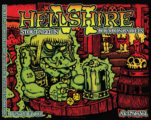 Oakshire Brewing Hellshire VI Label