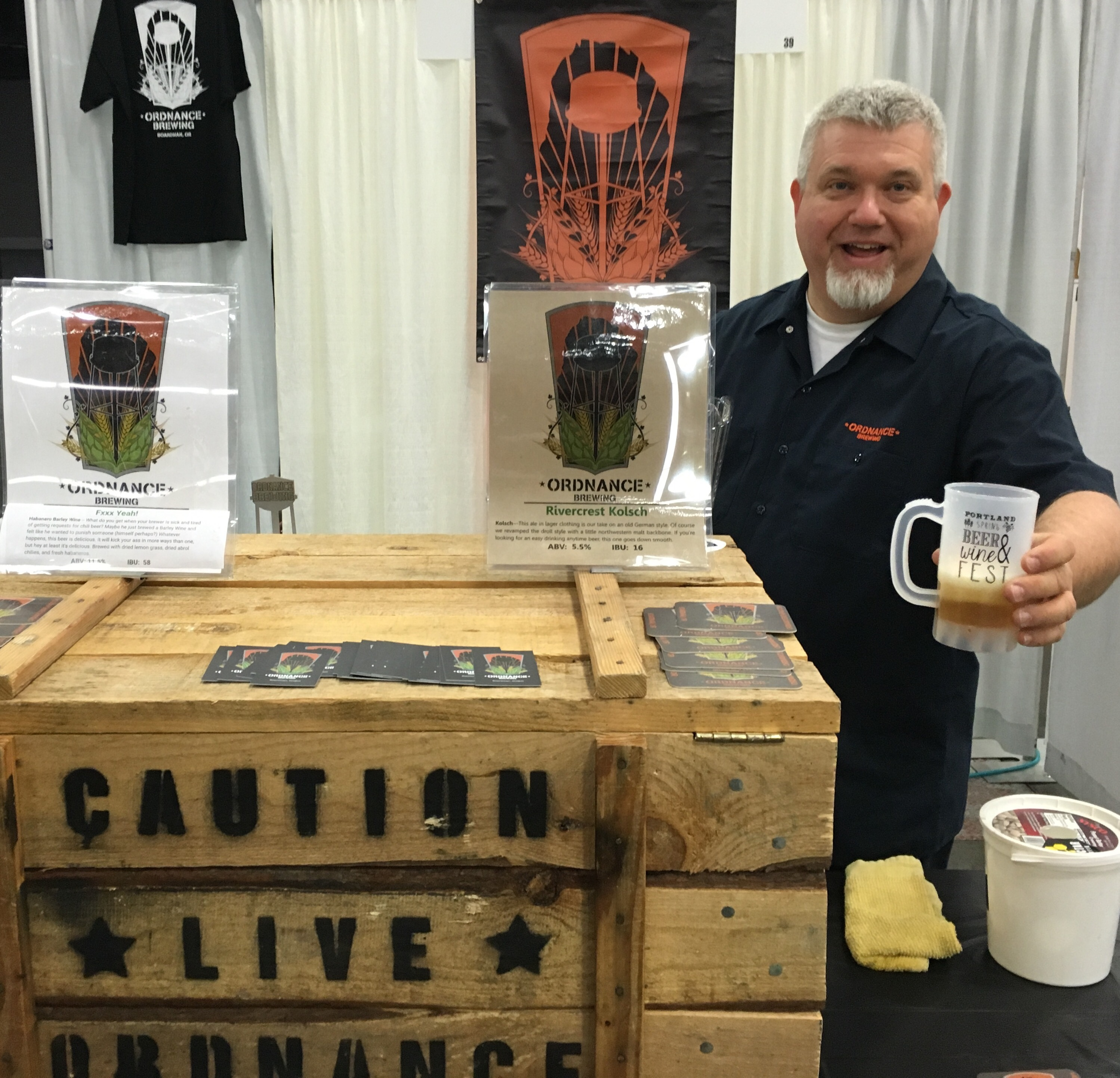 Ordnance Brewing pouring at the 2016 Spring Beer and Wine Fest