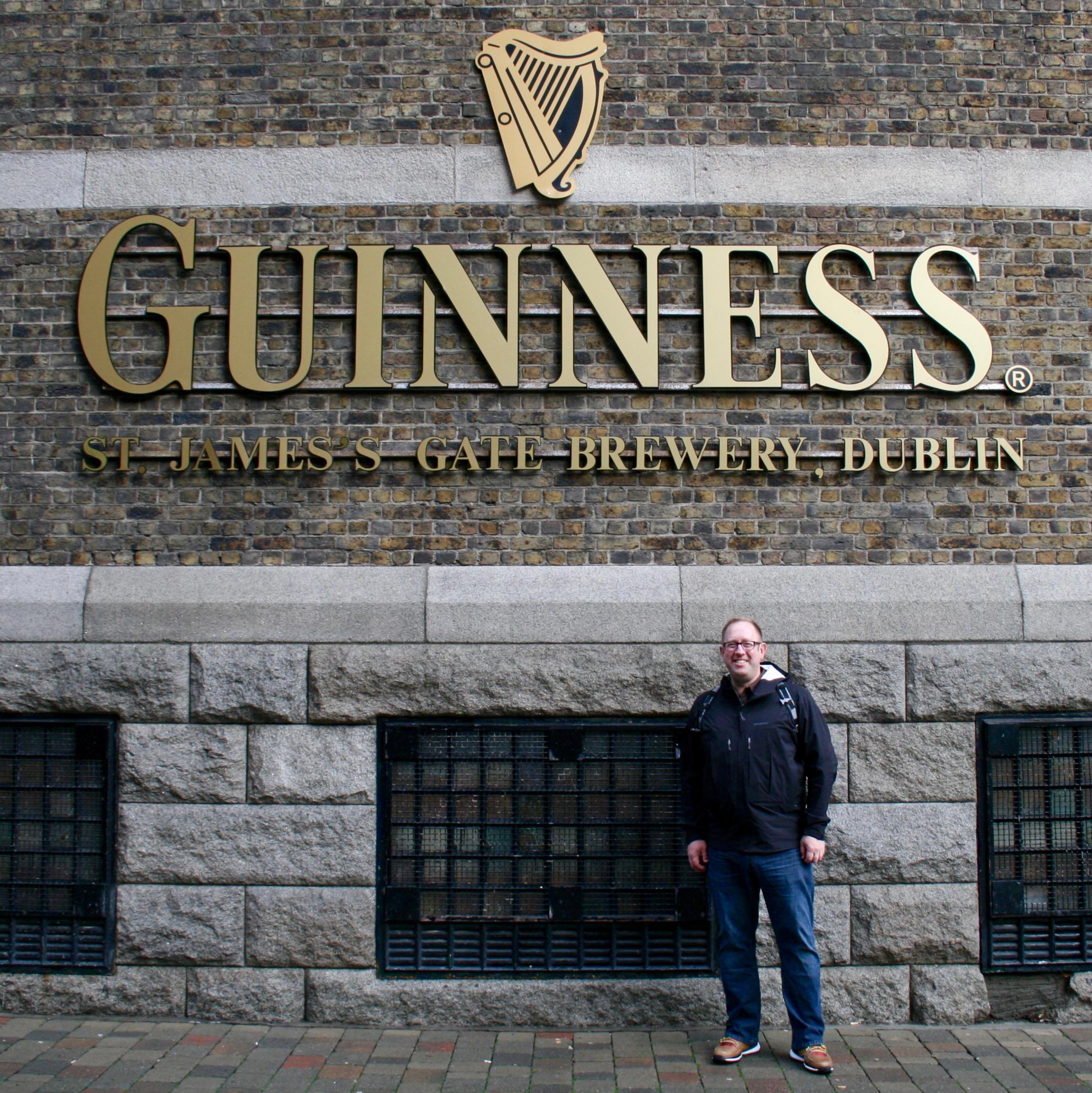 Outside of the Guinness Storehouse in Dublin, Ireland.