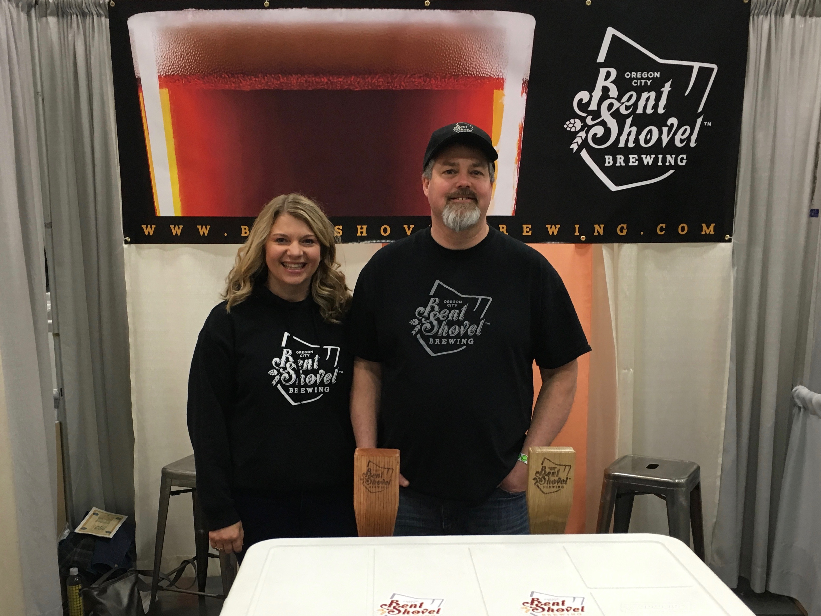 Shelly and Rick Strauss of Bent Shovel at the 2016 Spring Beer and Wine Fest.