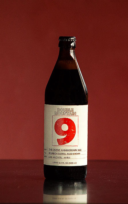The Divine Ninth Anniversary Bourbon Barrel Aged Brown. (image courtesy of Double Mountain)