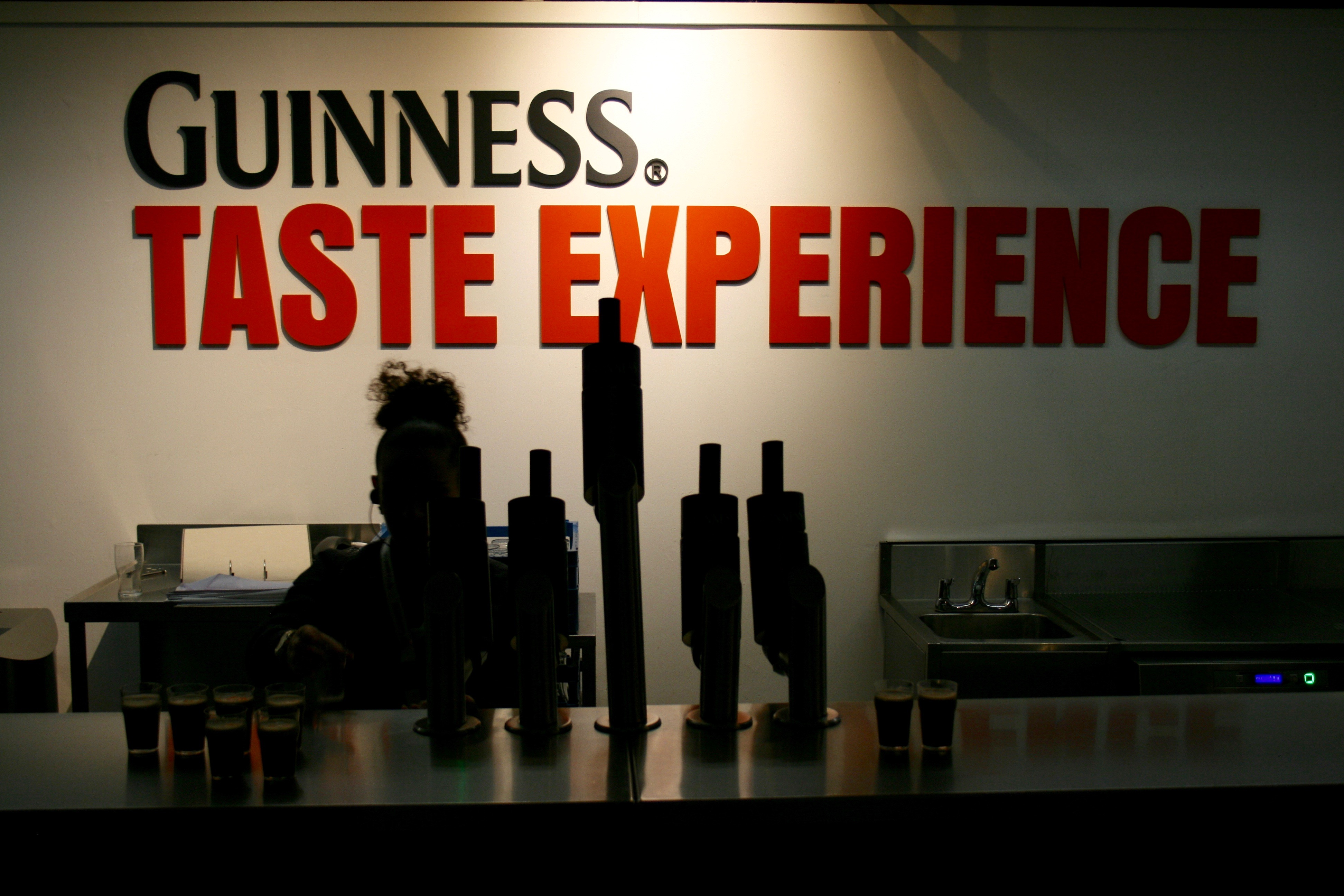 The Guinness Taste Experience inside the Guinness Storehouse.