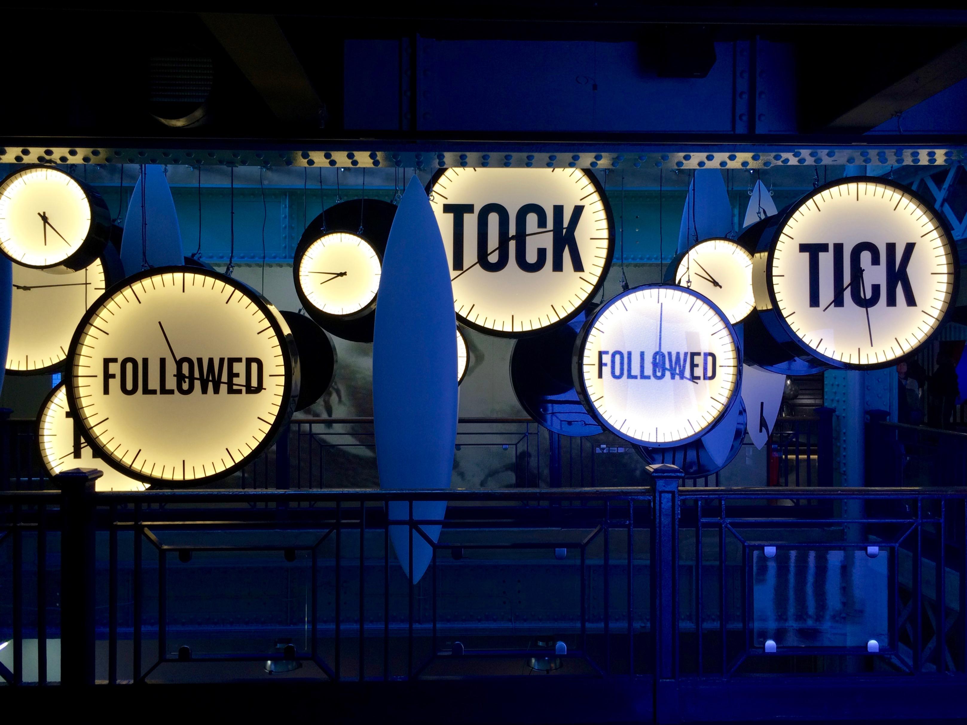 Tick Tock inside the Guinness Storehouse.