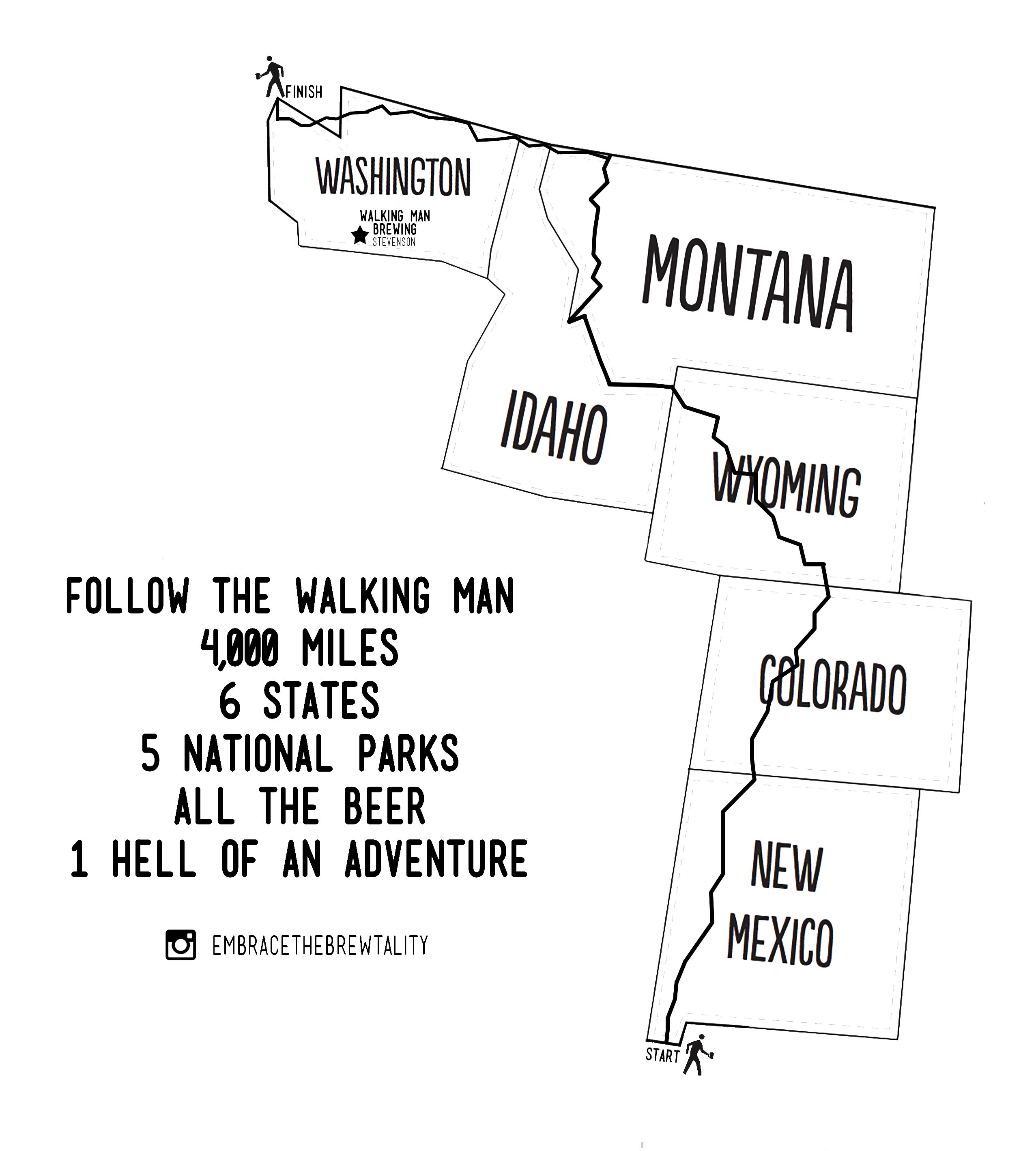 Walking Man Trail Map