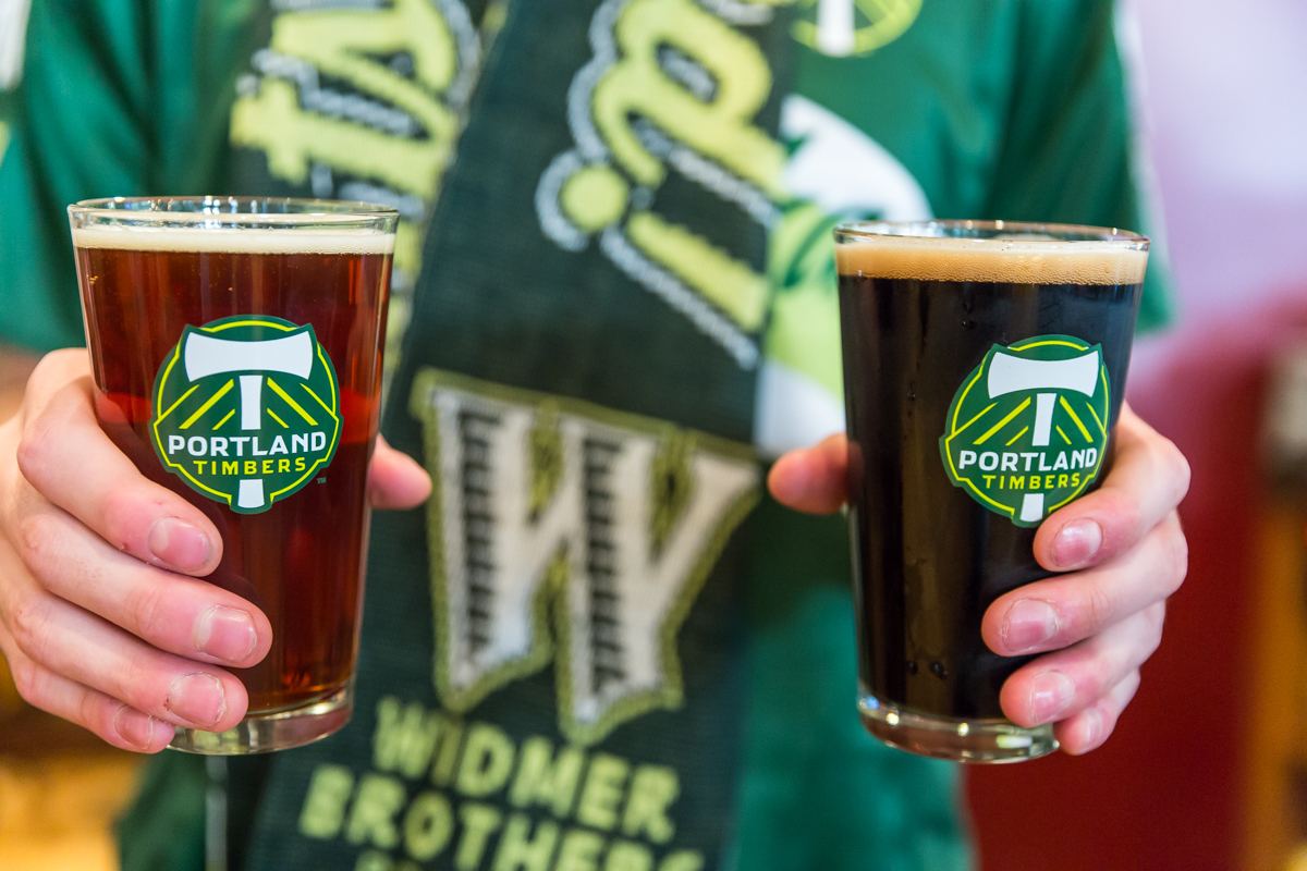 Widmer Brothers Brewing and Portland Timbers First Star Beer. (image courtesy of Widmer Brothers Brewing)