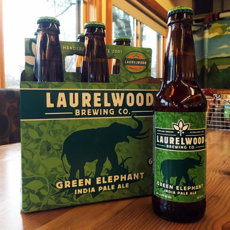 Laurelwood is bringing back its spring seasonal IPA, Green Elephant, in widely available six-pack of 12-oz. bottles and on tap at Laurelwood pubs. Named for the fact that the aftermath of first brewing this hoppy monster made it look as if an elephant had rampaged through the brewery, Green Elephant IPA boasts big pine, citrus, and floral hop flavors -- best of all, you can get a $2 pints of Green Elephant (and other Lompoc beers) on Tuesday, March 15 in celebration of their 15th anniversary at the Northeast Sandy Laurelwood Brewpub. Such a deal, such a beer... (Image courtesy of Laurelwood Brewing)